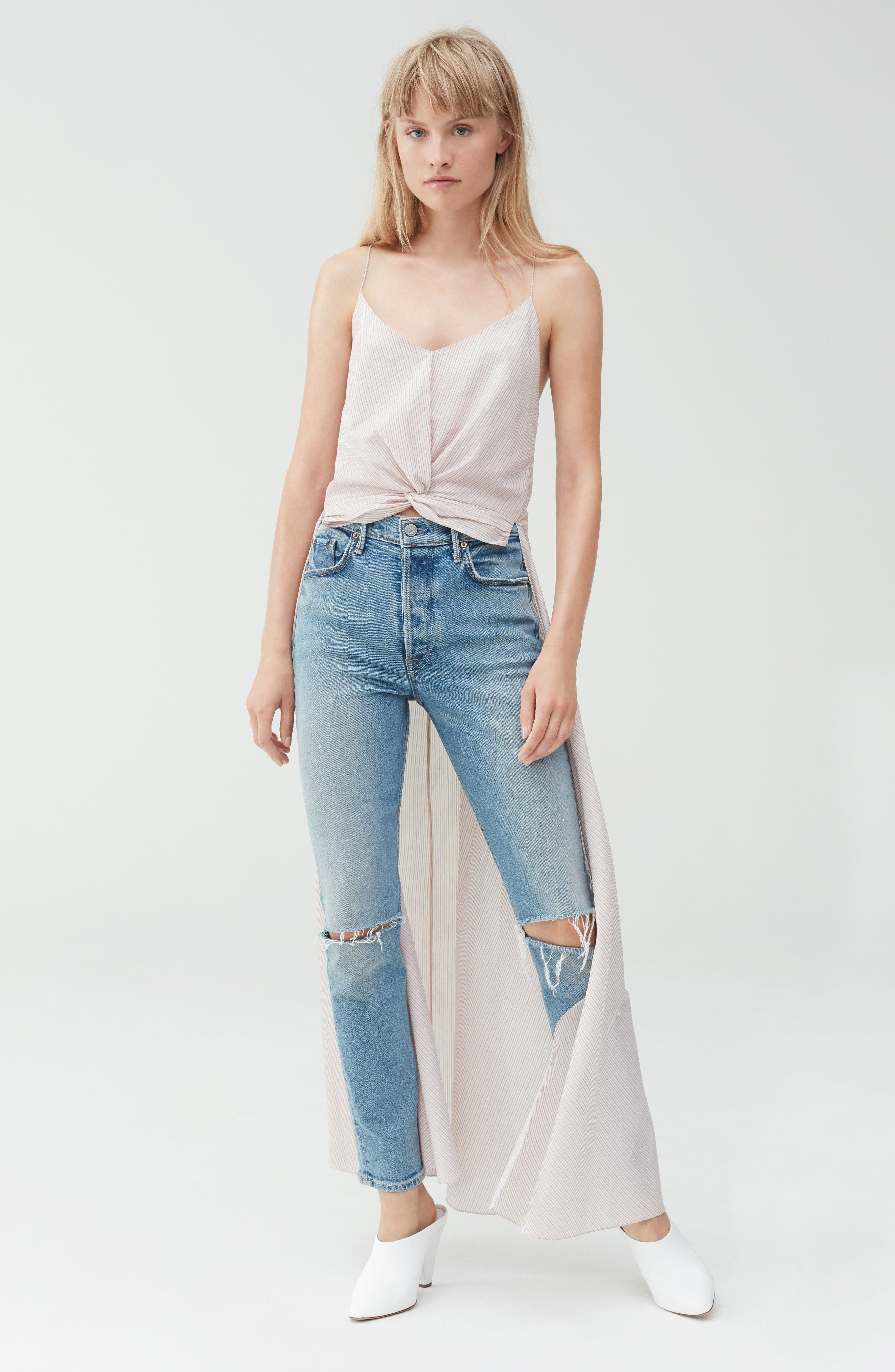 Alternate Image 7  - GRLFRND Karolina High Waist Jeans (What Is Life)