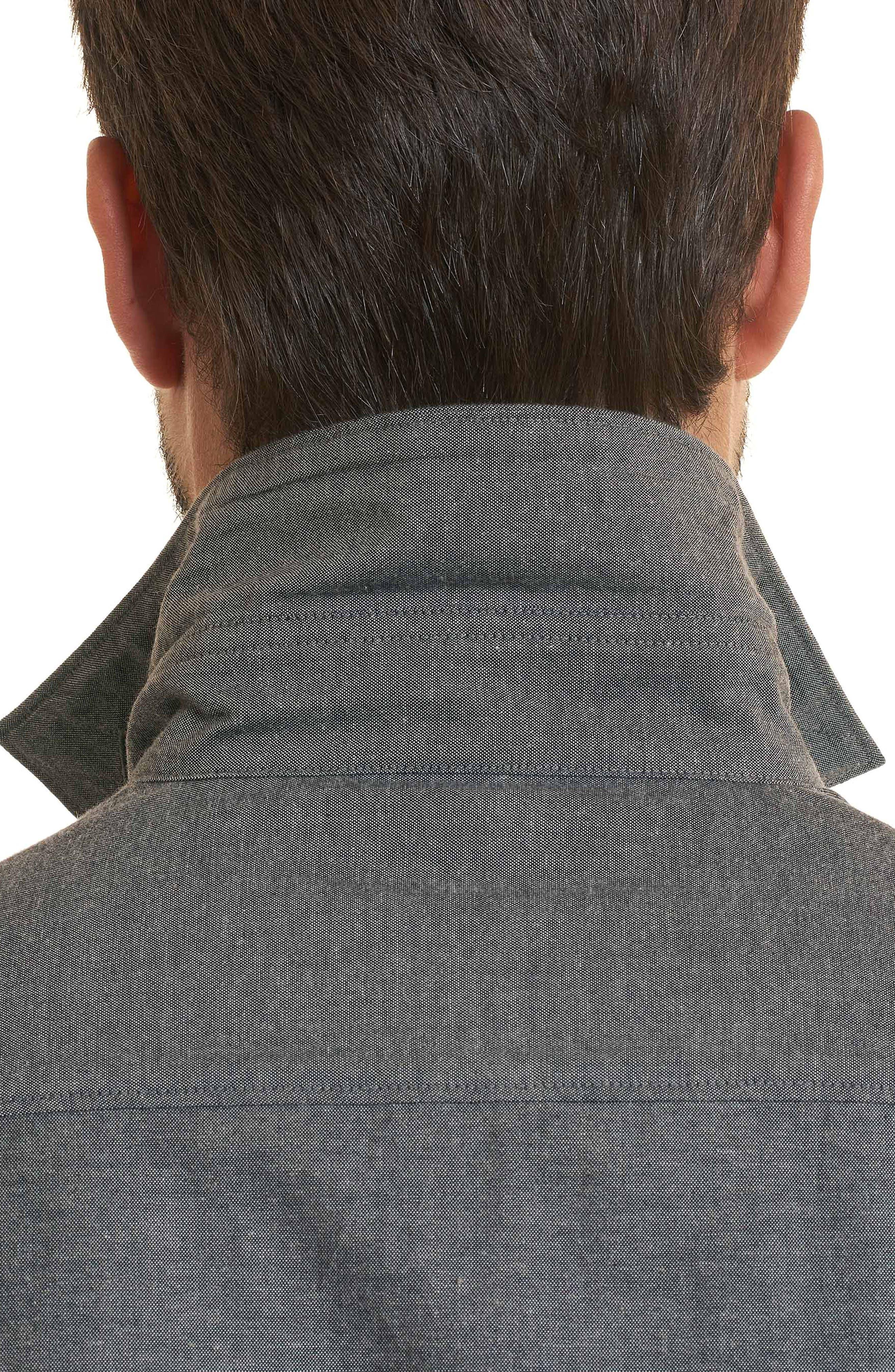 Maestre Classic Fit Sport Shirt,                             Alternate thumbnail 4, color,                             Grey