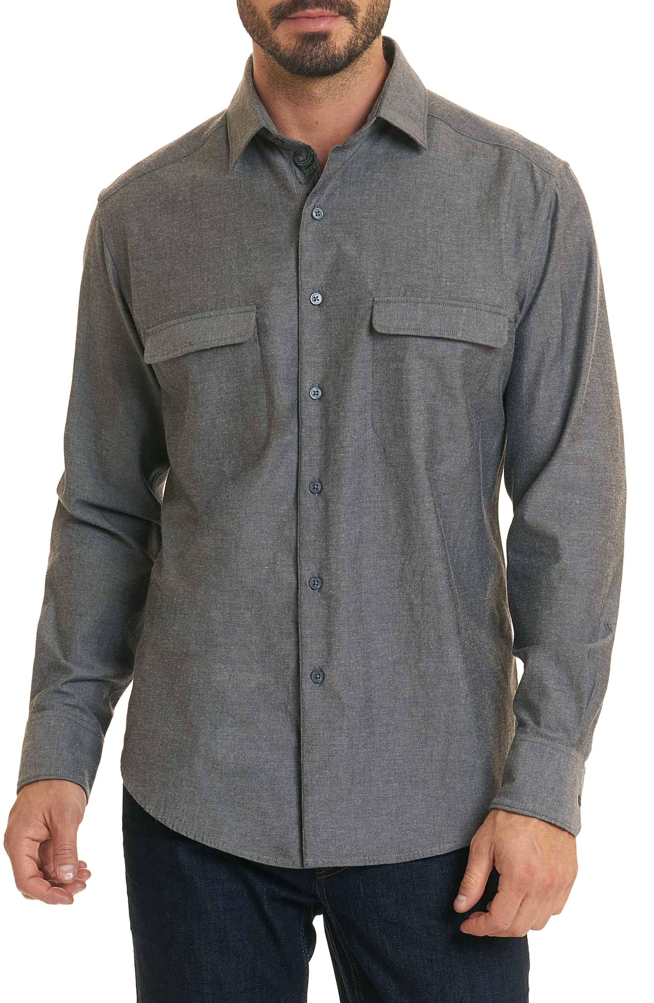 Maestre Classic Fit Sport Shirt,                             Main thumbnail 1, color,                             Grey