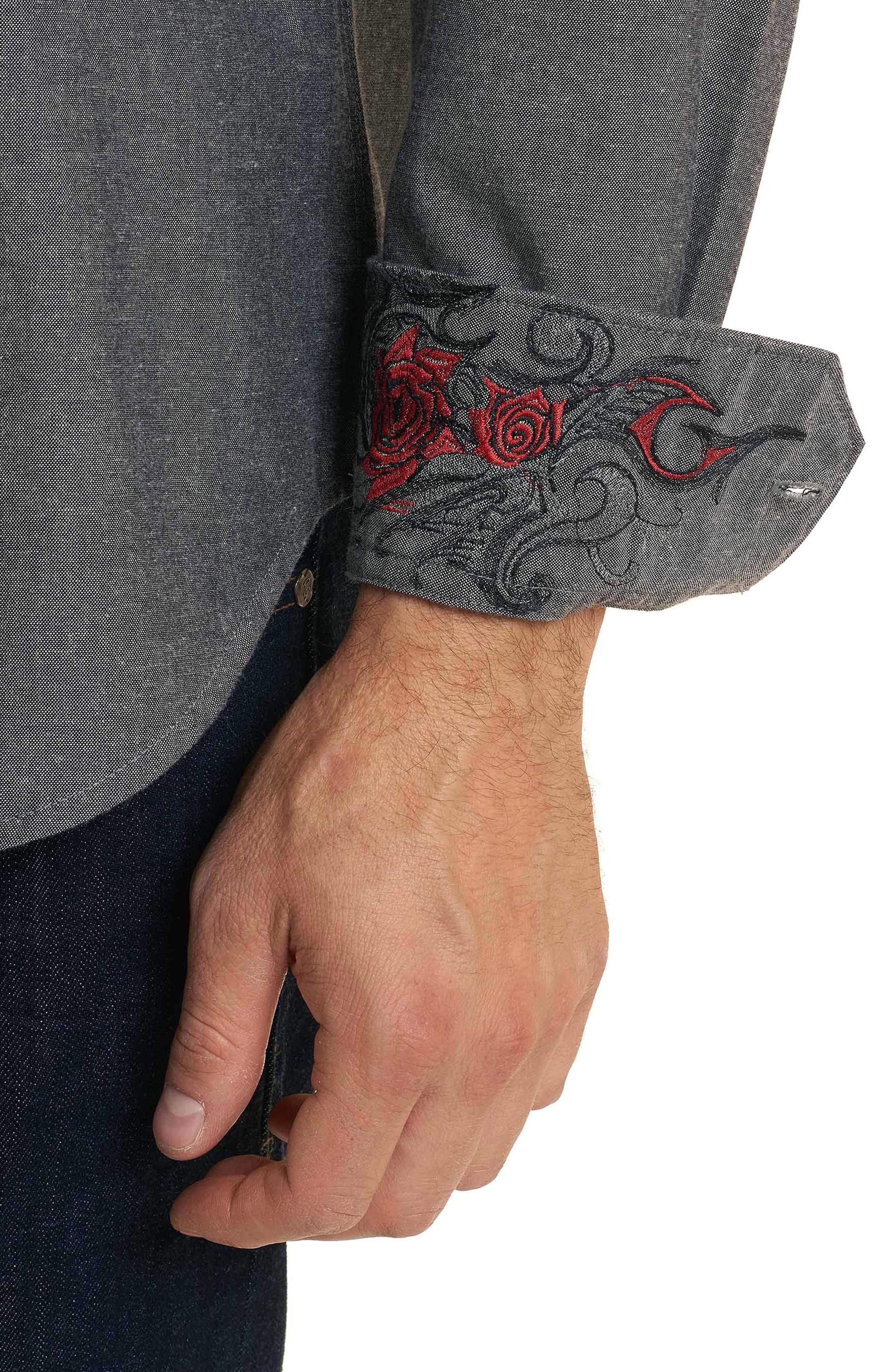 Maestre Classic Fit Sport Shirt,                             Alternate thumbnail 2, color,                             Grey