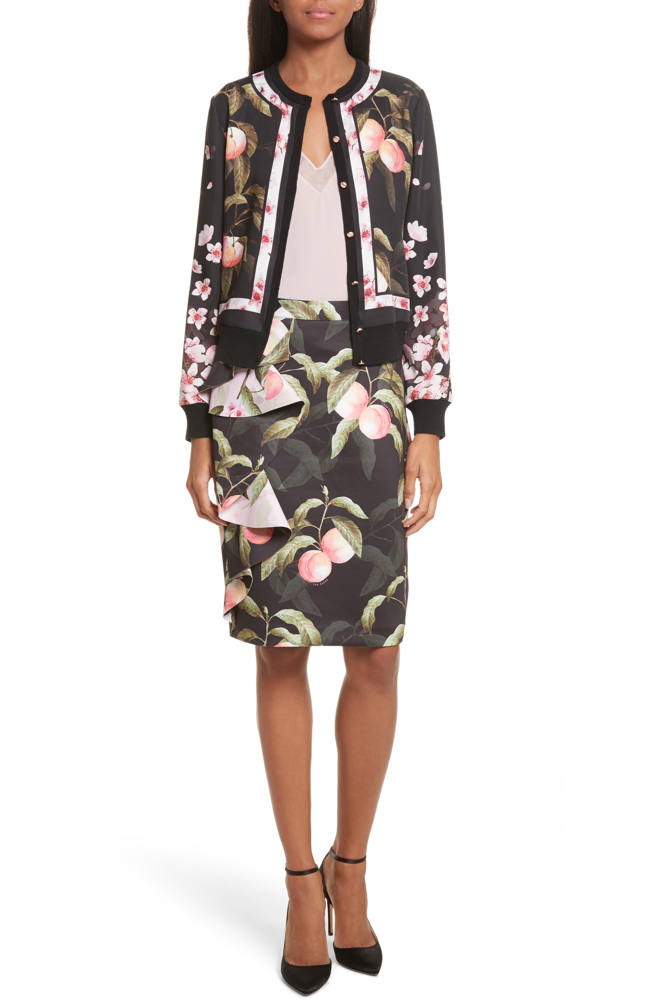 Alternate Image 8  - Ted Baker London Peaches Ruffle Pencil Skirt