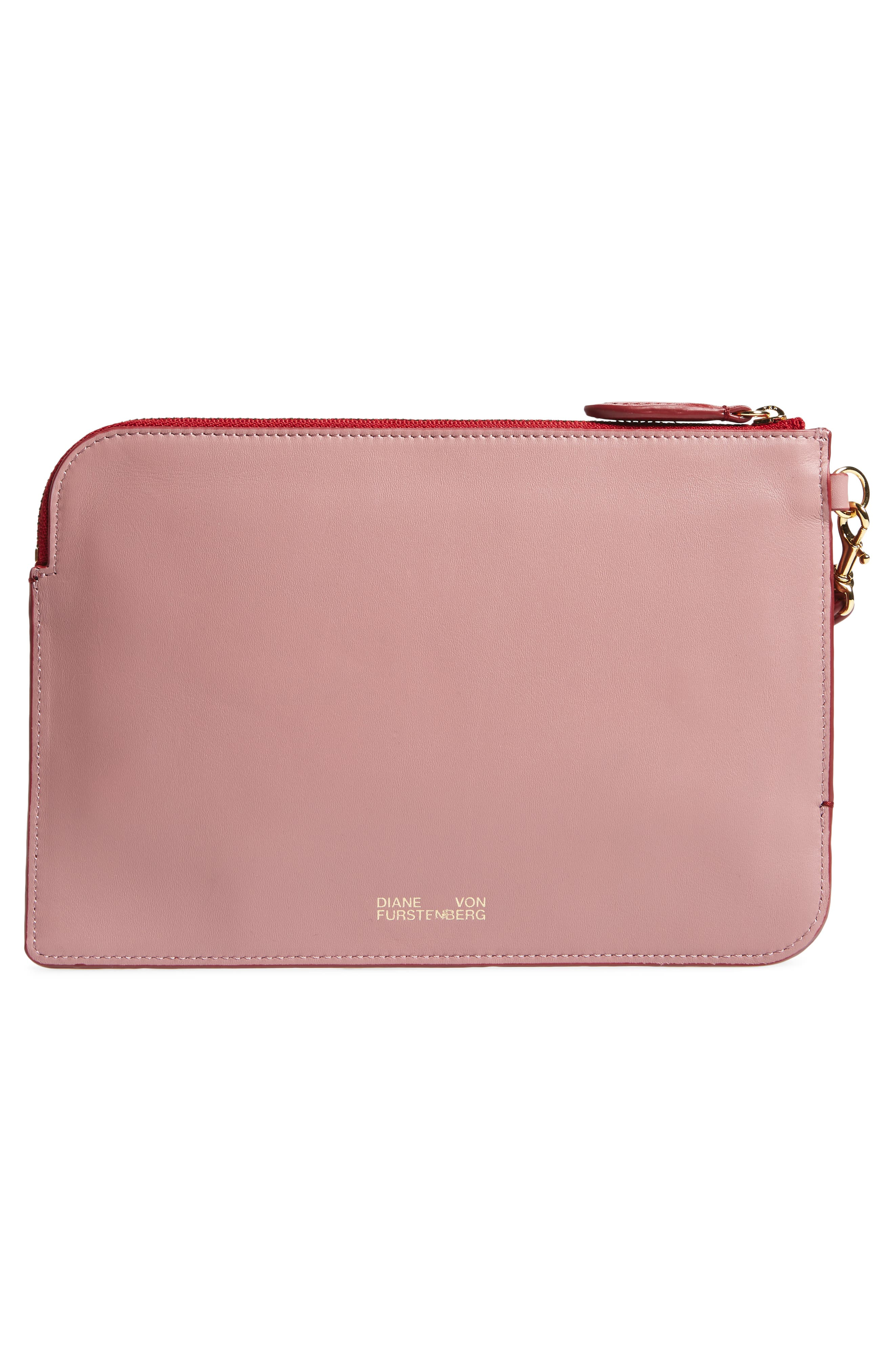Alternate Image 3  - Diane von Furstenberg Medium Leather Zip Pouch