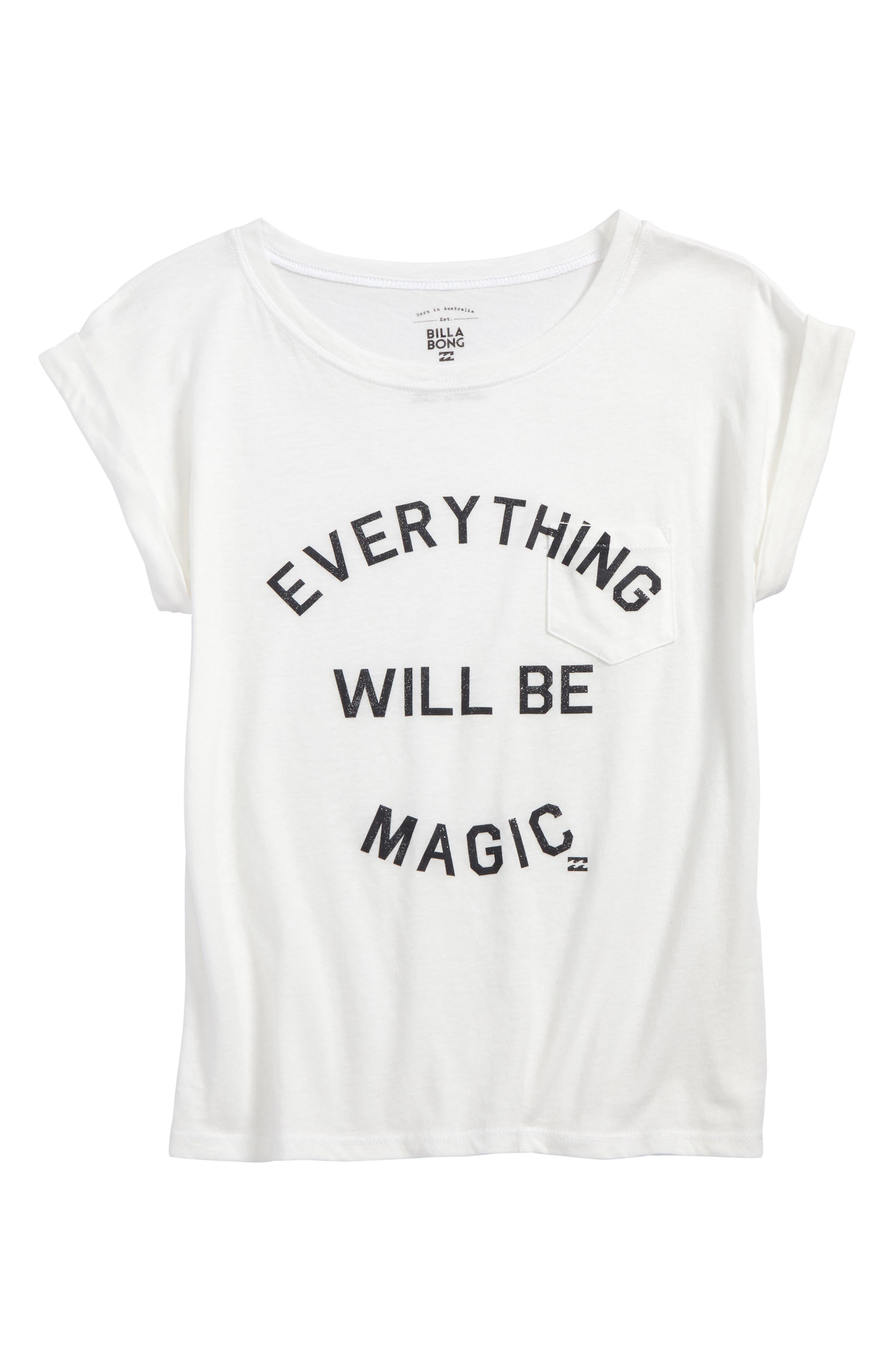 Alternate Image 1 Selected - Billabong Be Magic Graphic Tee (Little Girls & Big Girls)