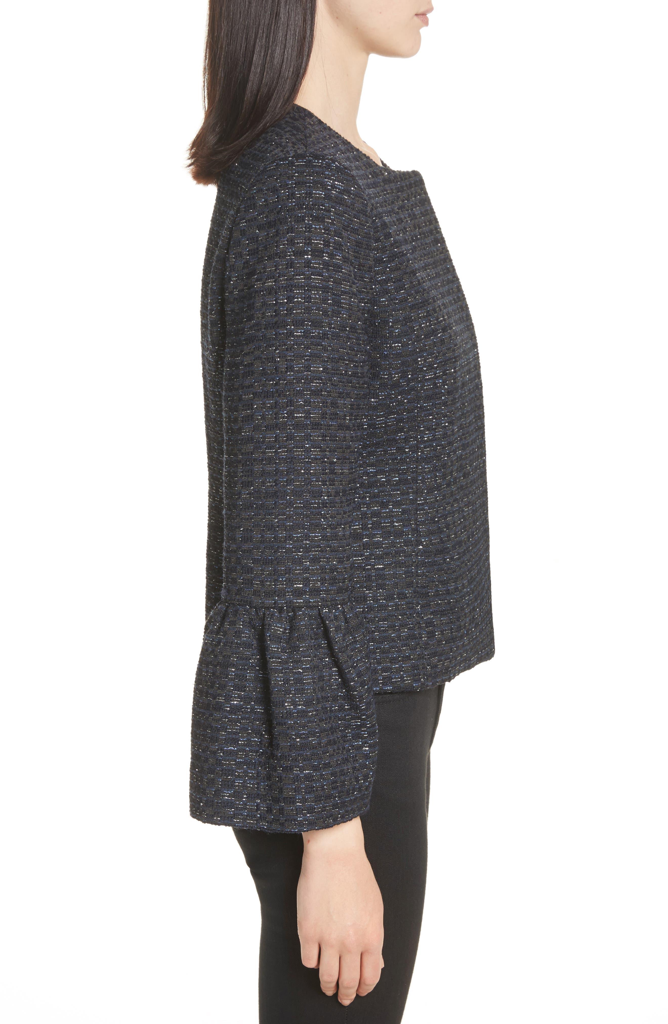 Alternate Image 3  - Helene Berman Zoe Bell Cuff Tweed Jacket