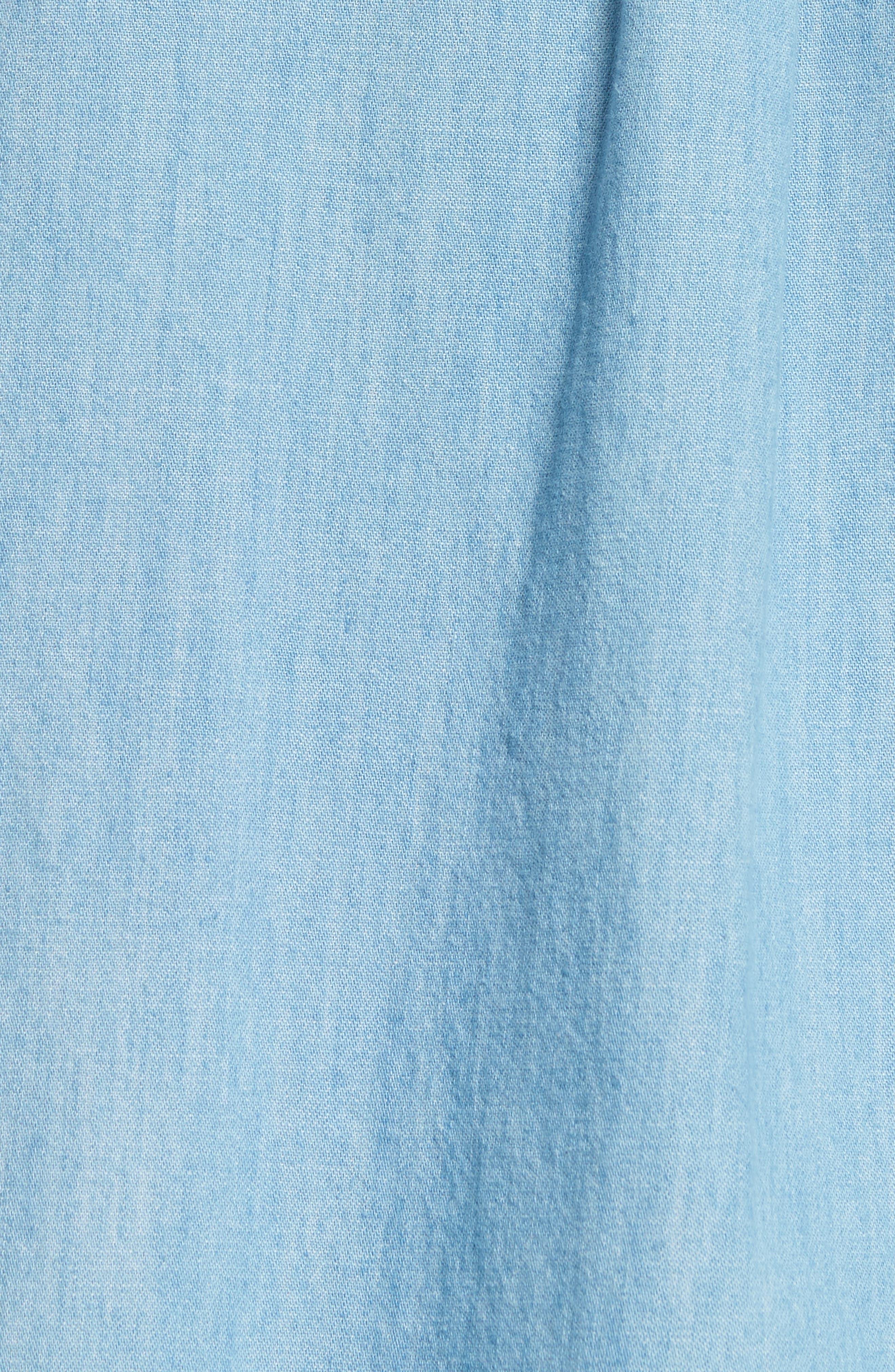 Chambray Shirt,                             Alternate thumbnail 5, color,                             Bleu Iaa