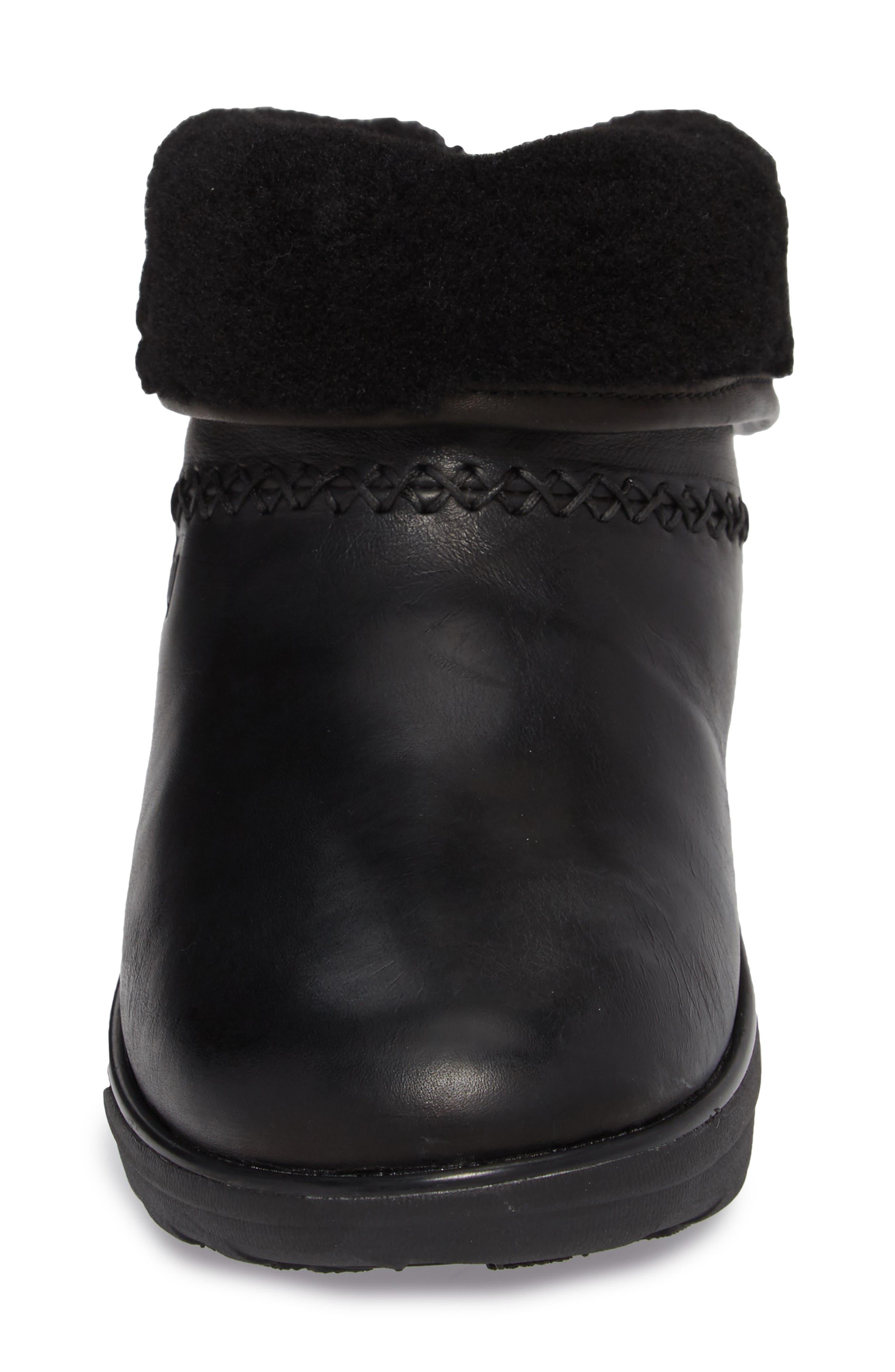 Mukluk Shorty II Boot,                             Alternate thumbnail 4, color,                             Black Leather
