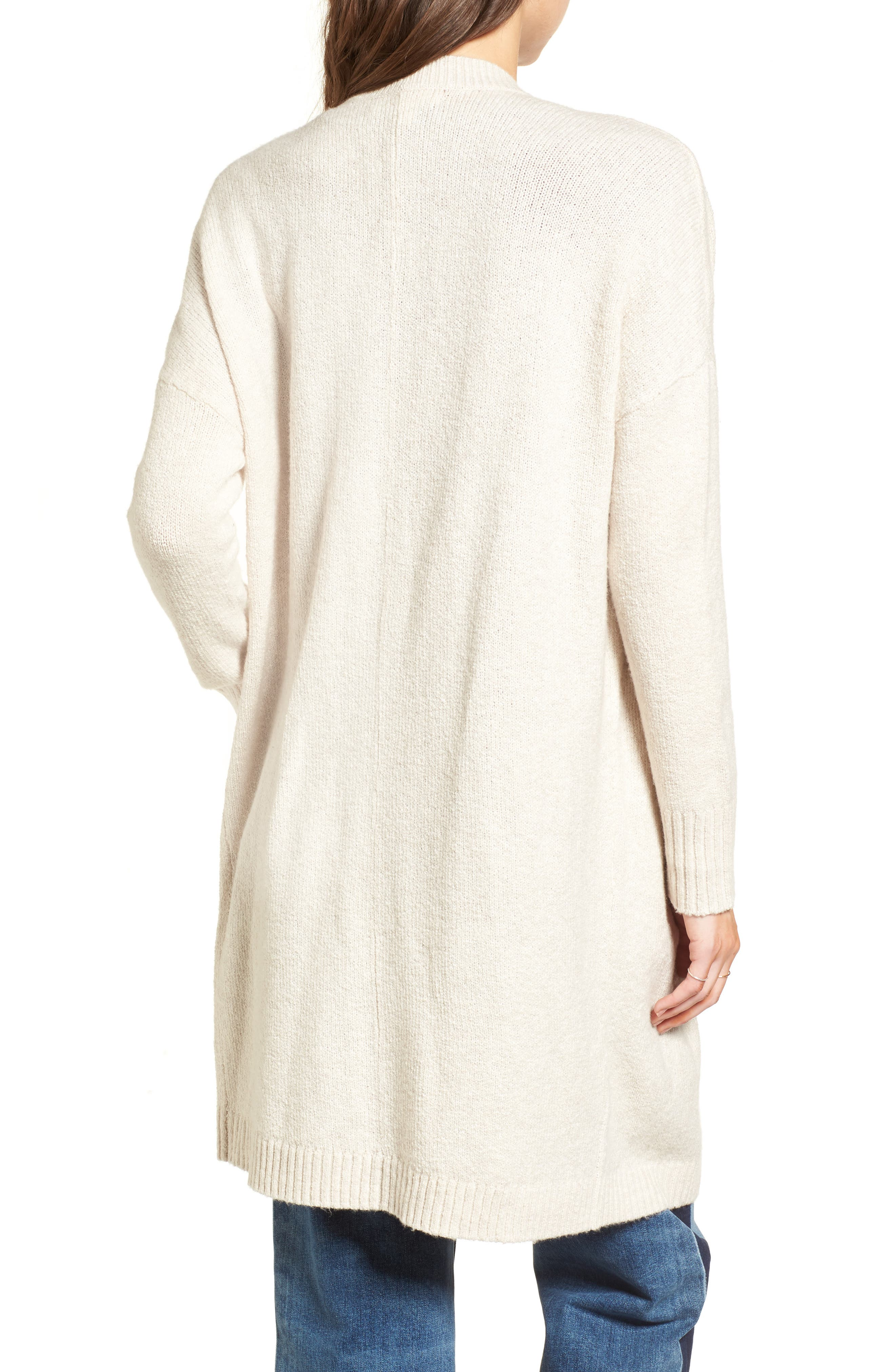 Drape Cardigan,                             Alternate thumbnail 2, color,                             Beige Oatmeal Heather