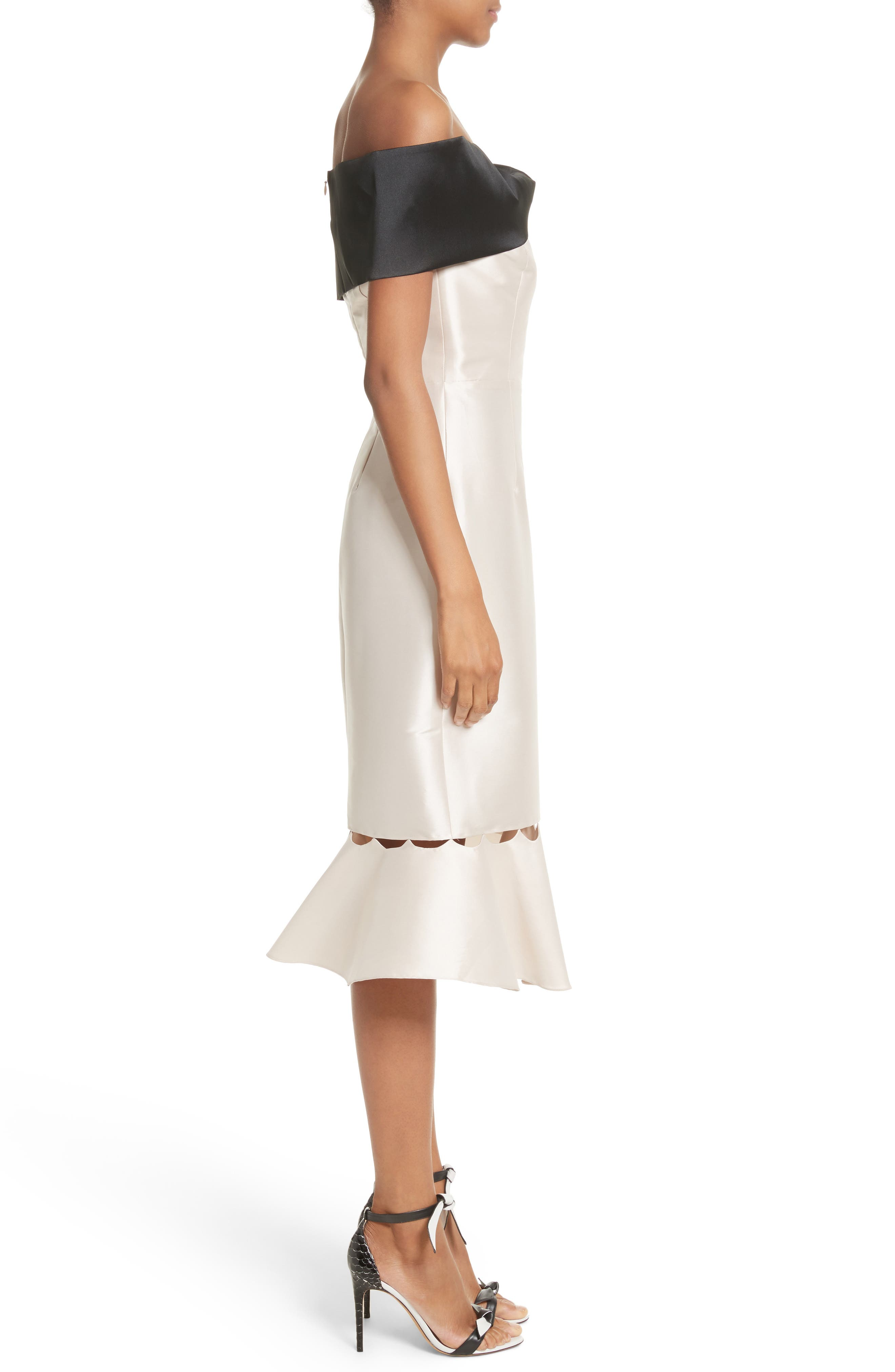 Alternate Image 3  - Sachin & Babi Noir Asli Colorblock Off the Shoulder Sheath Dress