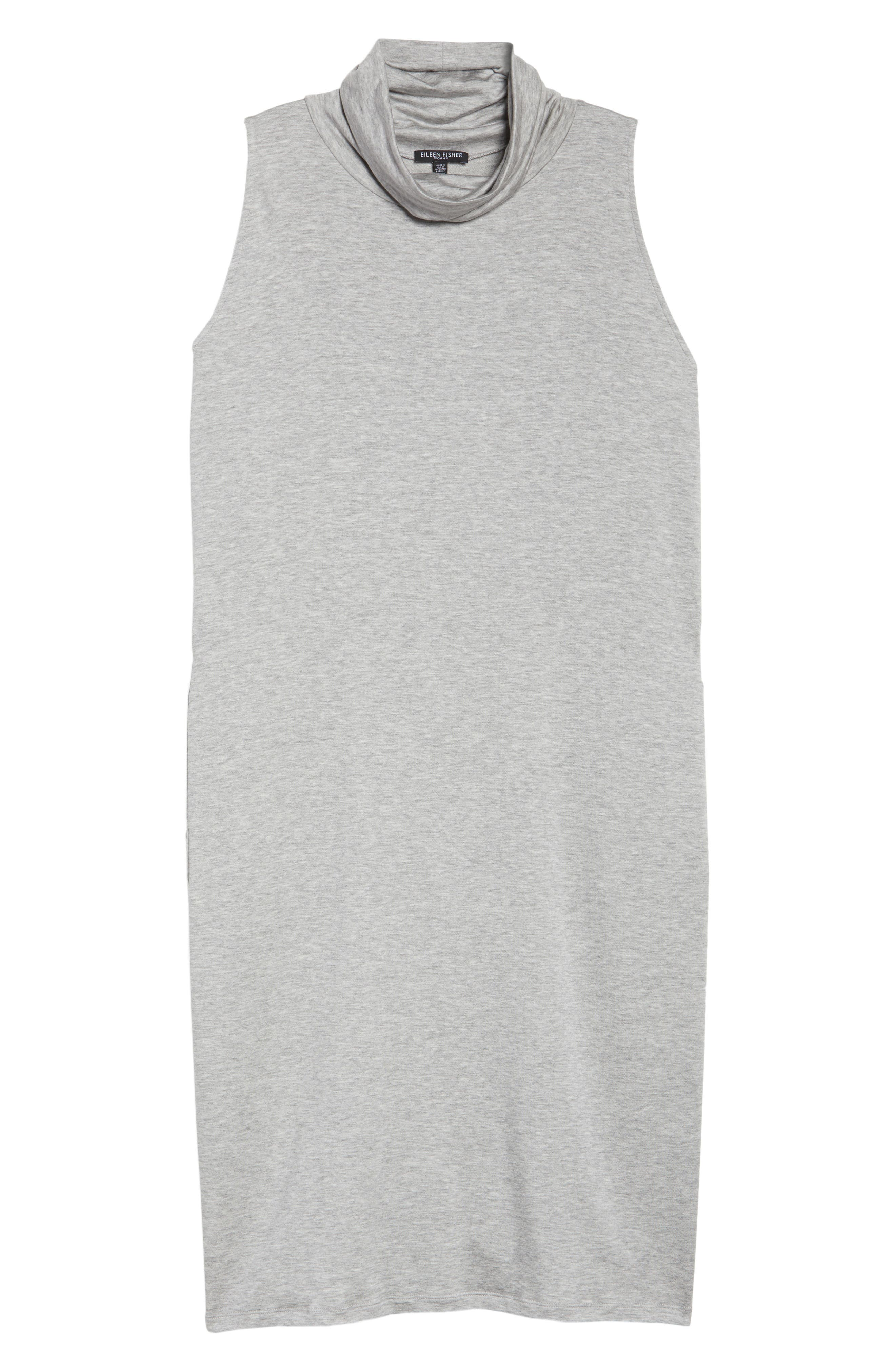 Stretch Tencel<sup>®</sup> Knit Jumper Dress,                             Alternate thumbnail 6, color,                             Grey