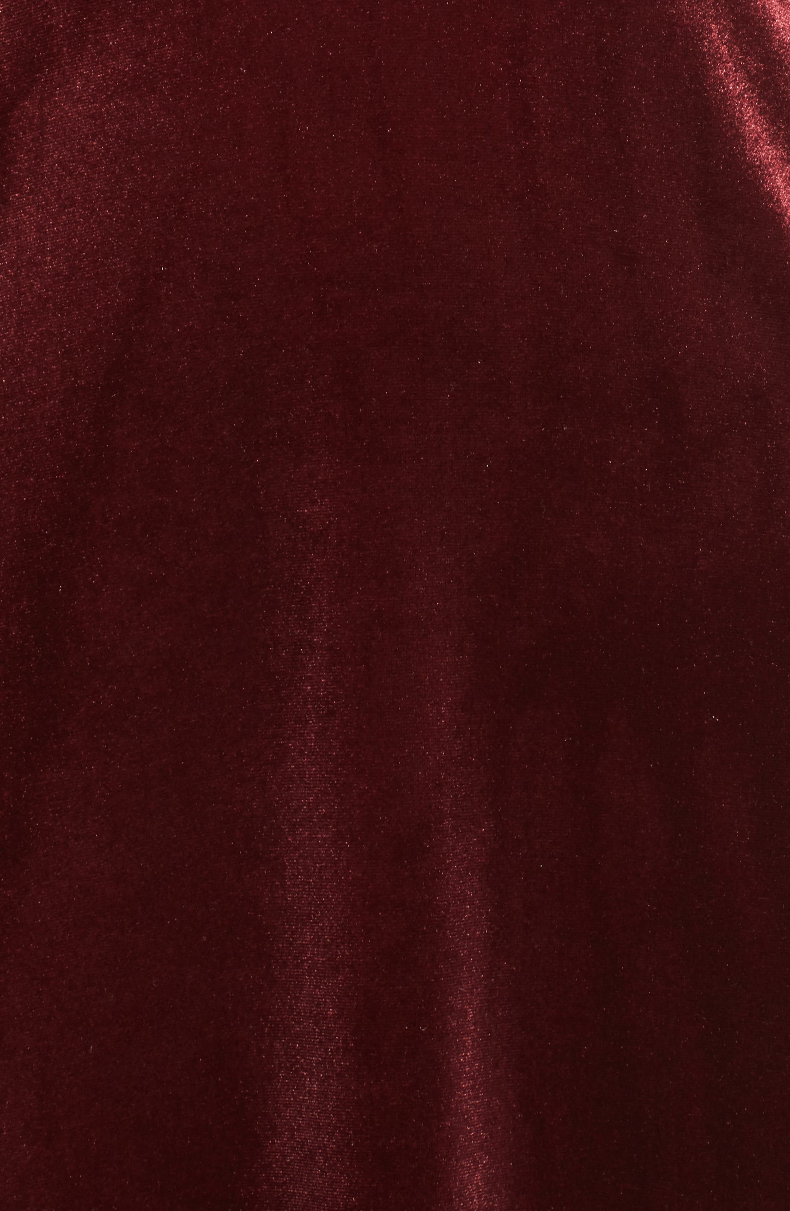 Sullivan Velvet Cowl Neck Gown,                             Alternate thumbnail 5, color,                             Dark Berry