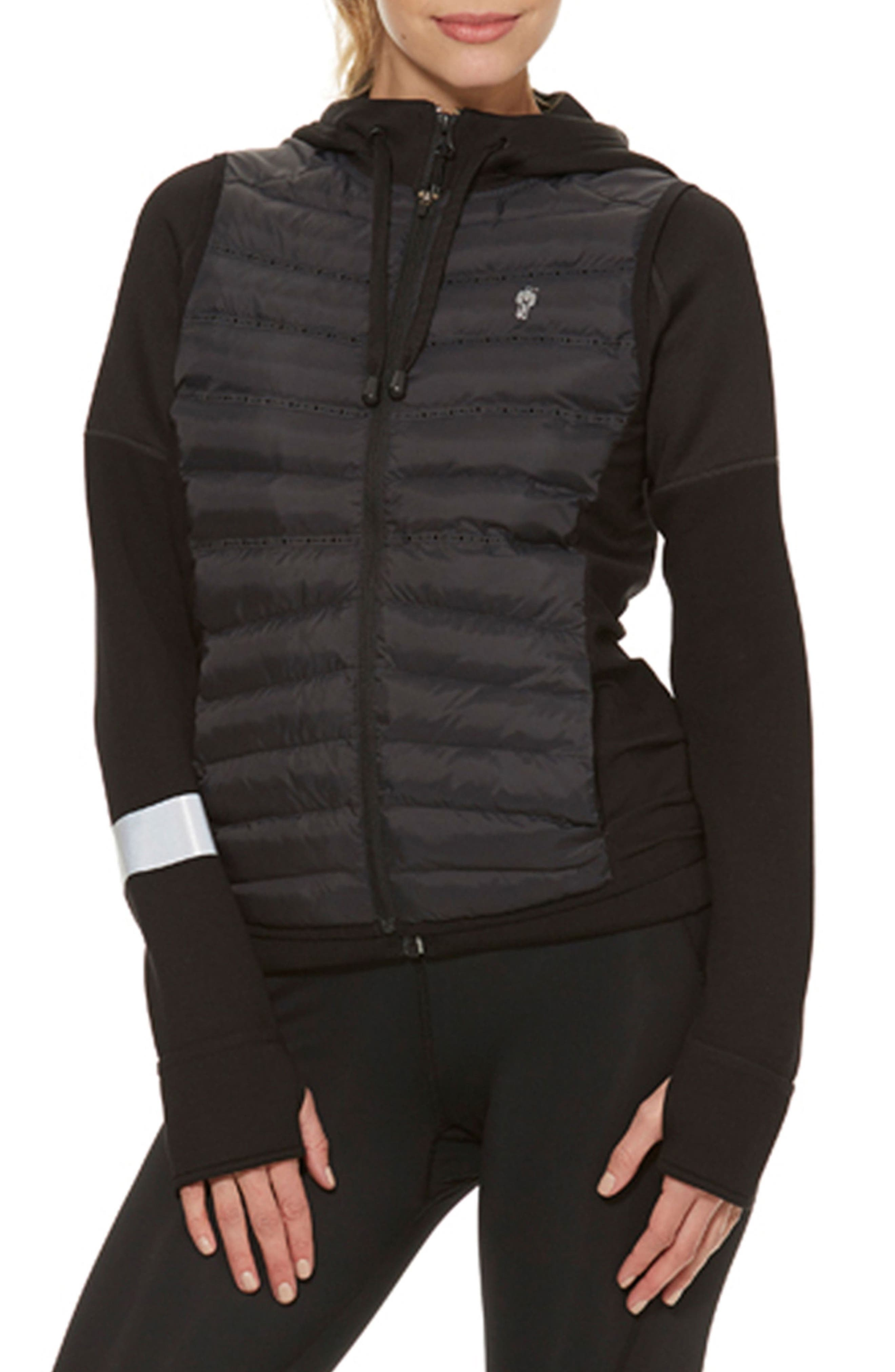 Brecon Beacons Water-Resistant & Windproof Insulated 2-in-1 Jacket,                         Main,                         color, Black