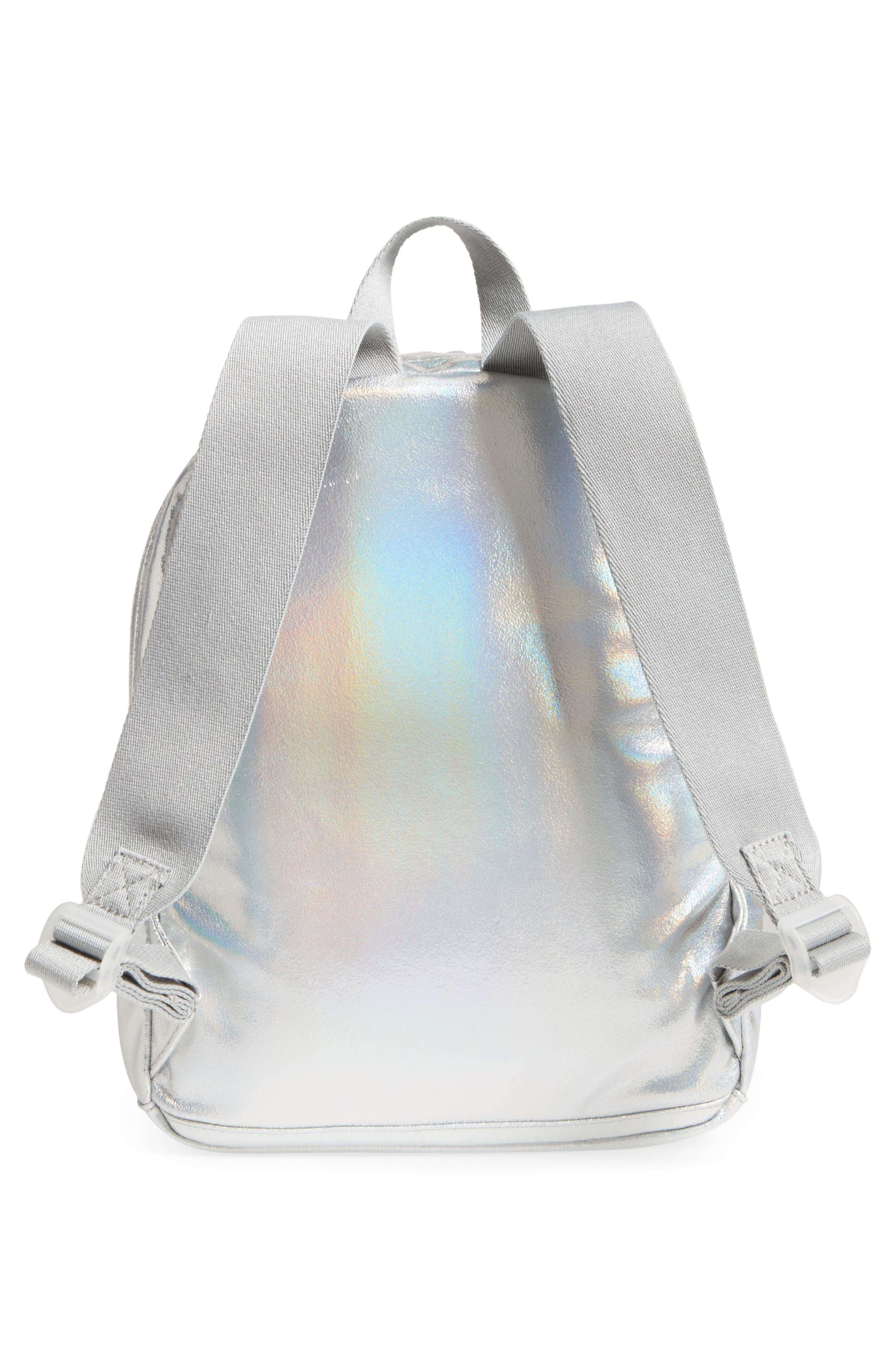 Starrett City - Mini Kane Iridescent Backpack,                             Alternate thumbnail 3, color,                             Silver