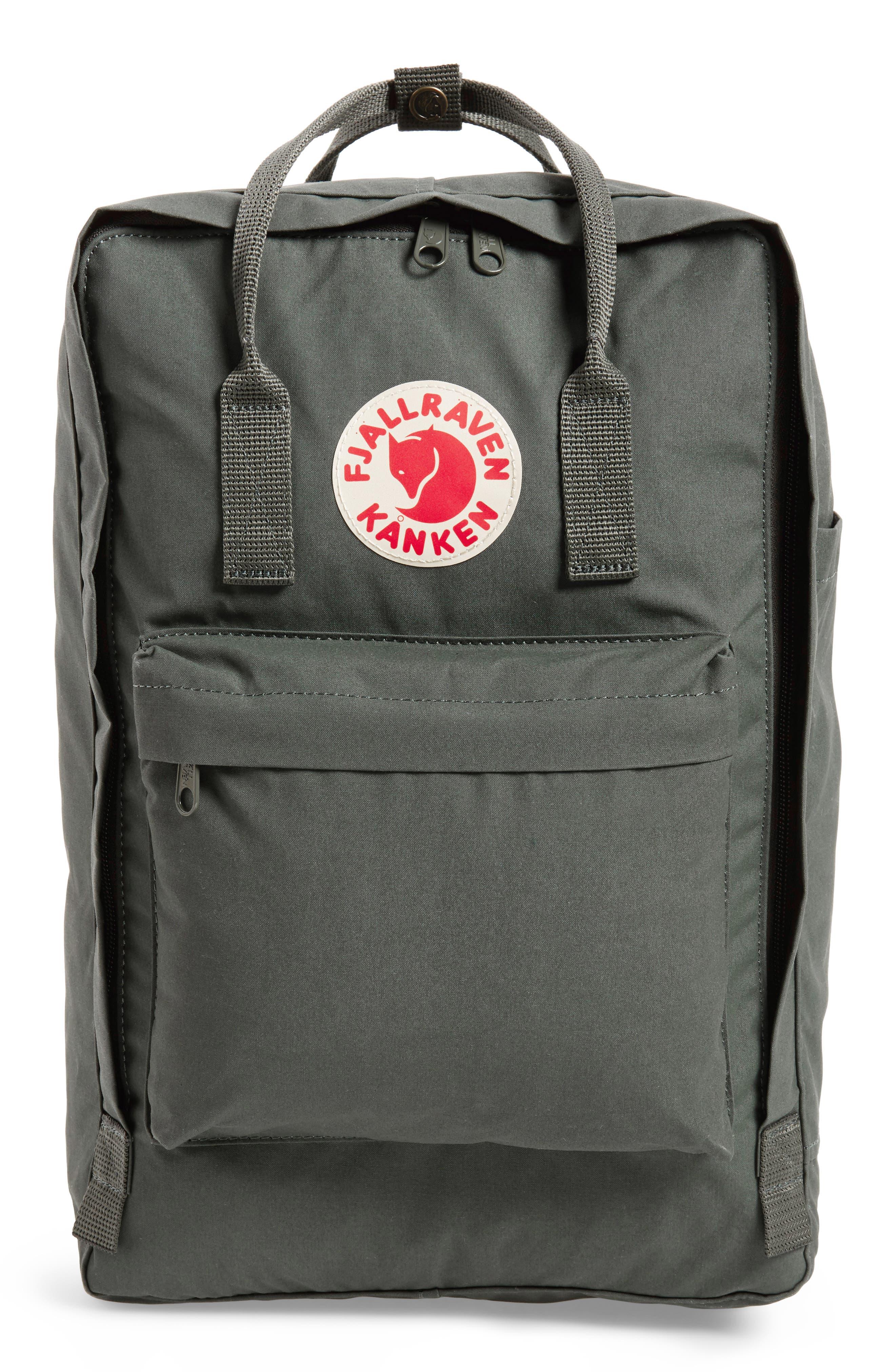 'Kånken' Laptop Backpack,                             Main thumbnail 1, color,                             Forest Green