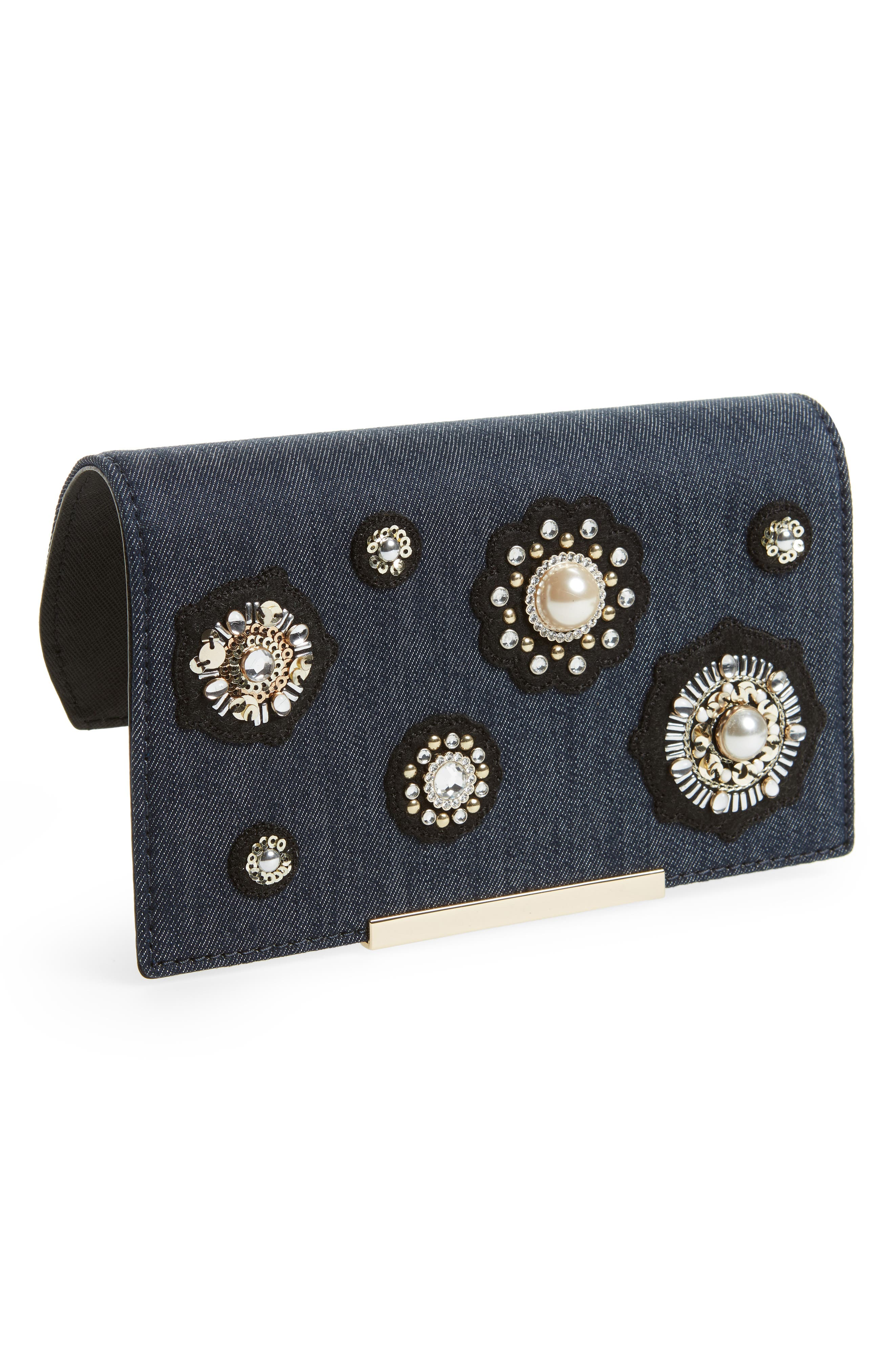 Main Image - kate spade new york make it mine embellished denim snap-on accent flap