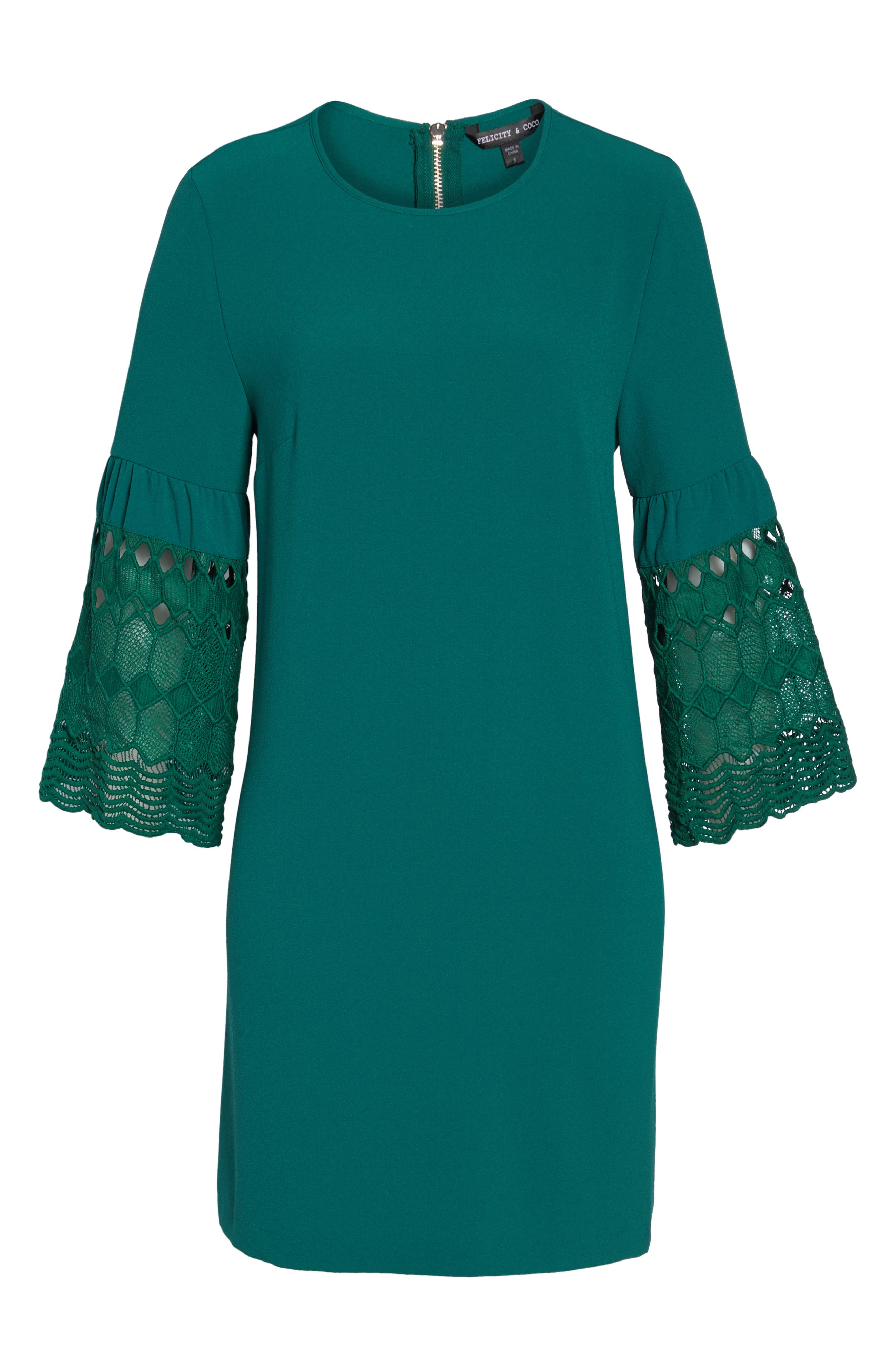 Alternate Image 6  - Felicity & Coco Lace Sleeve Shift Dress (Nordstrom Exclusive)