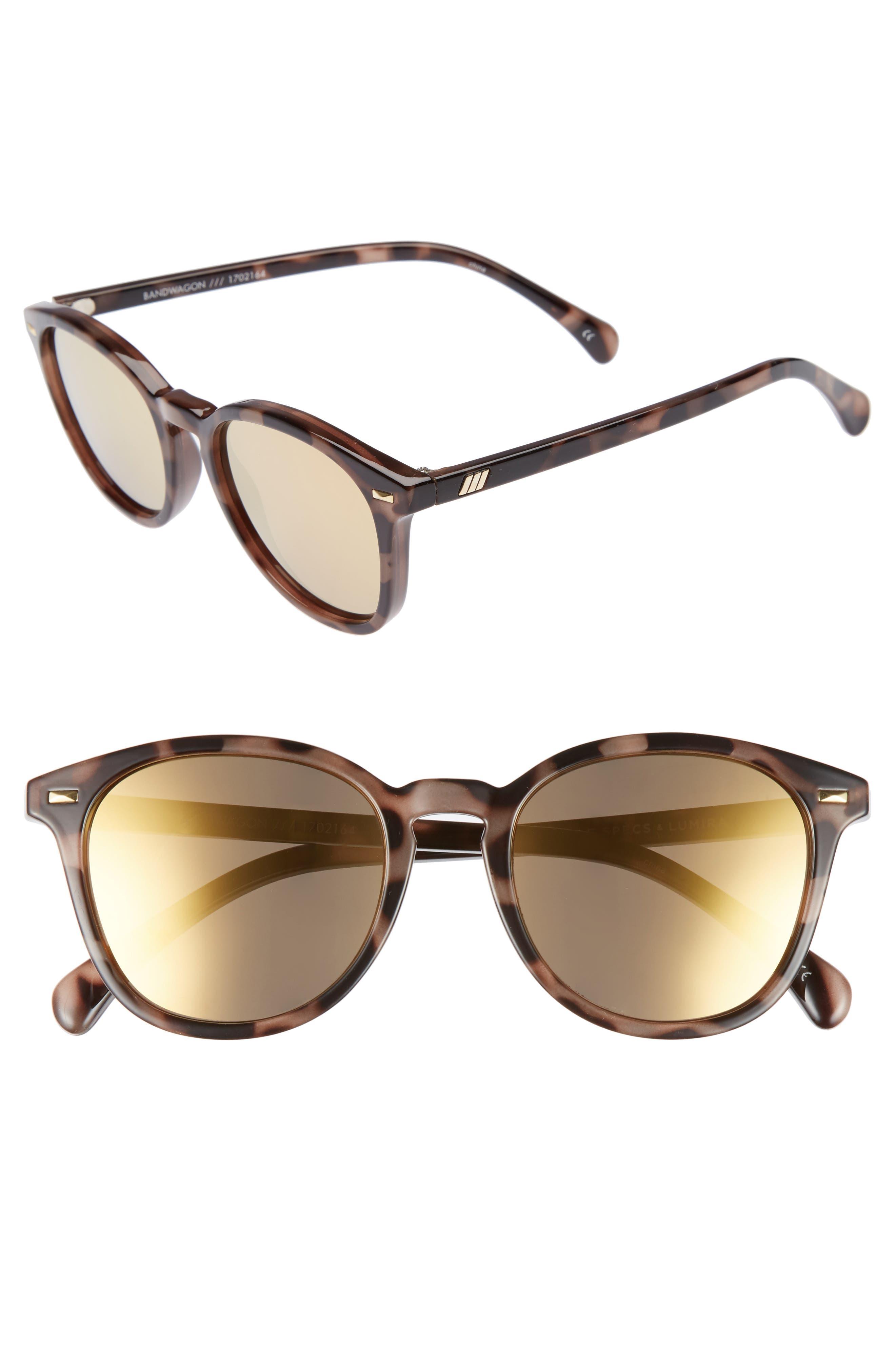 x Lumira Bandwagon 51mm Sunglasses & Candle Gift Set,                             Main thumbnail 1, color,                             Volcanic Tort