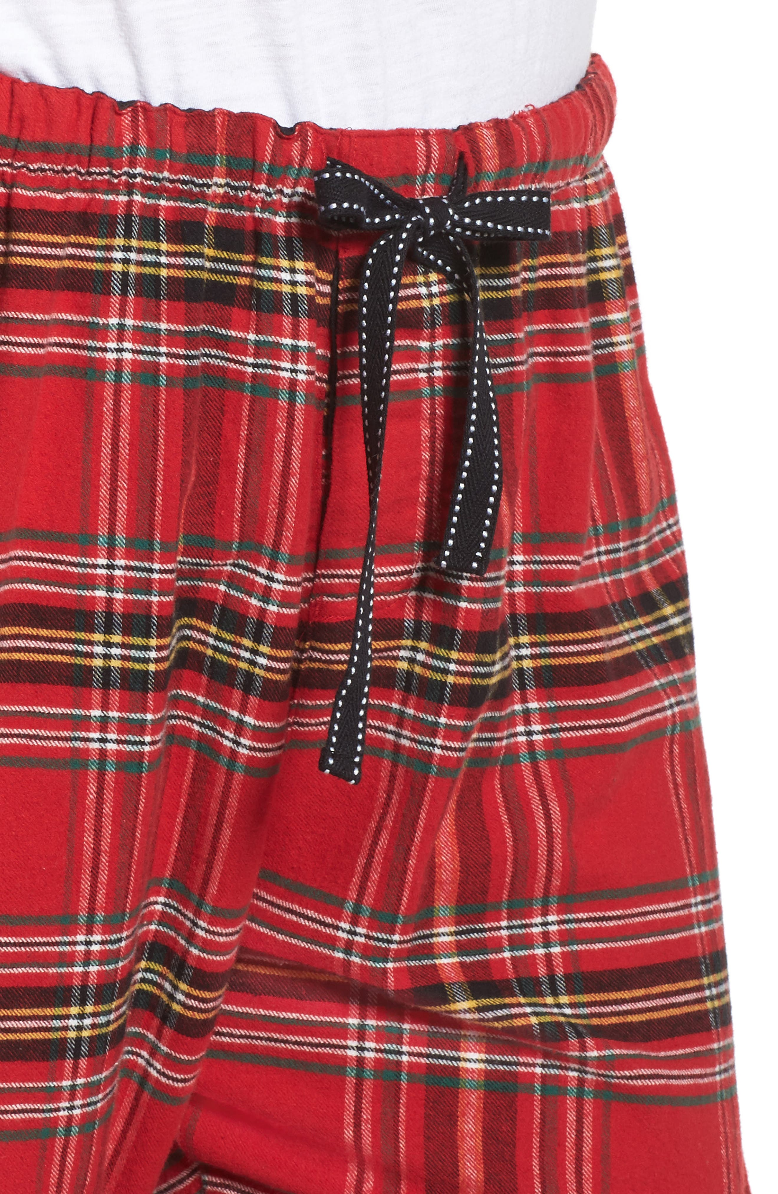 Plaid Flannel Pajama Pants,                             Alternate thumbnail 6, color,                             Brick