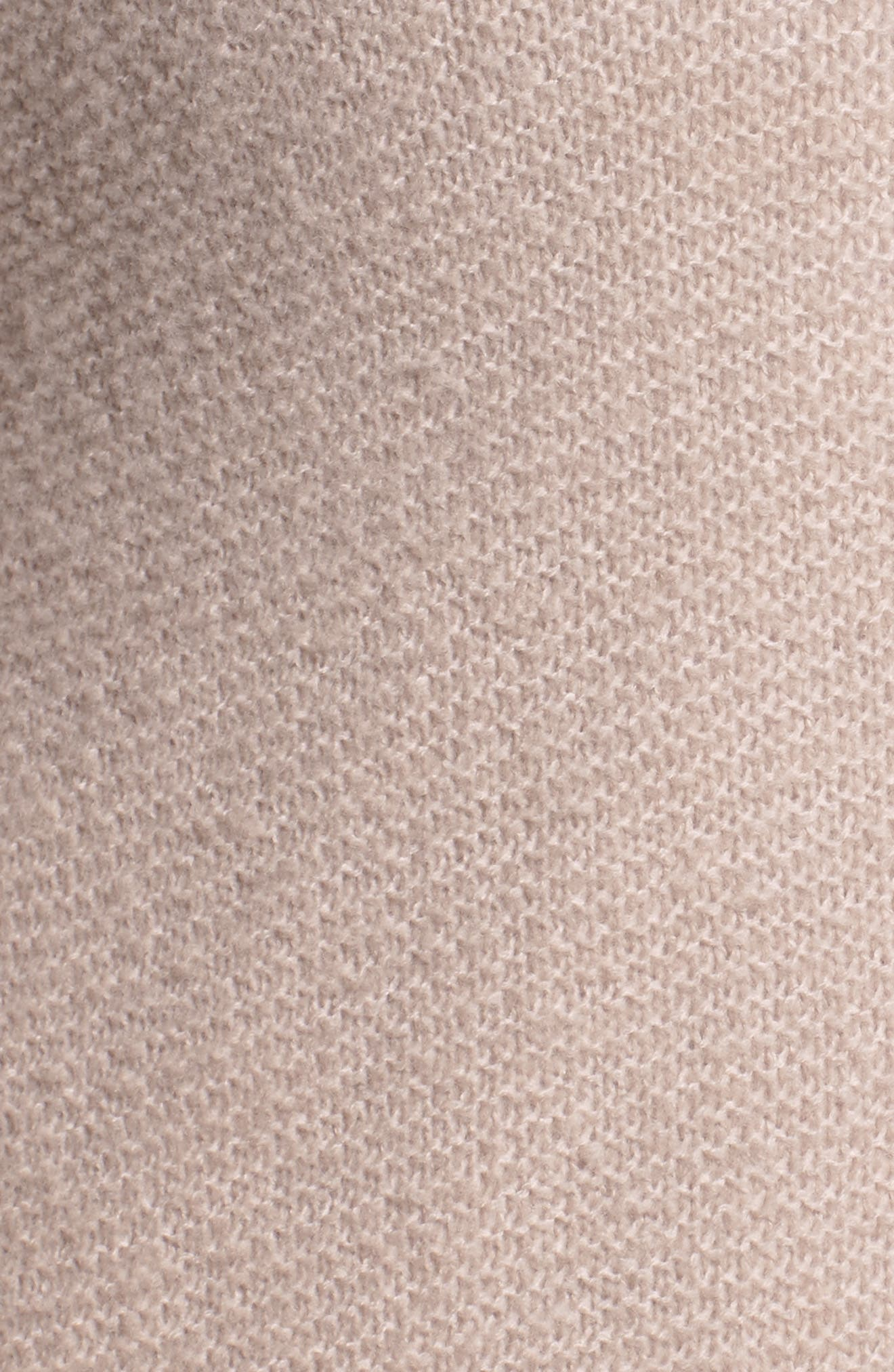 Alternate Image 5  - Caslon® Long V-Neck Wool Blend Cardigan (Plus Size)