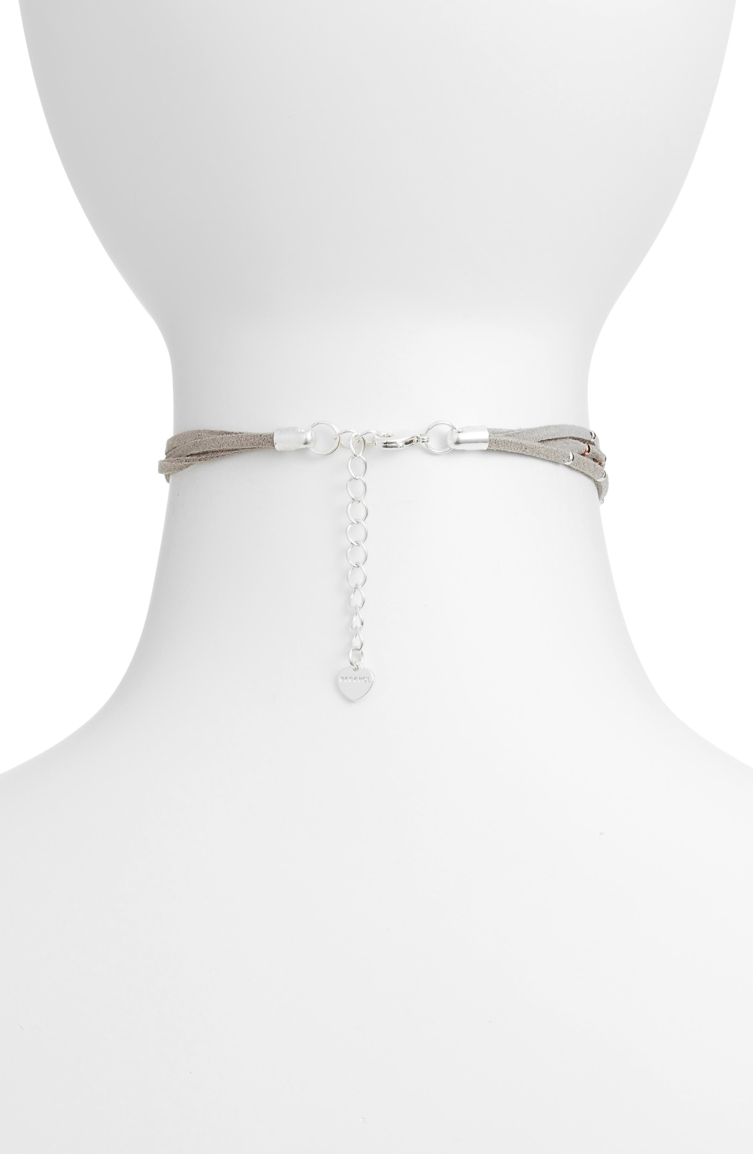 Star Charm Choker,                             Alternate thumbnail 2, color,                             Grey