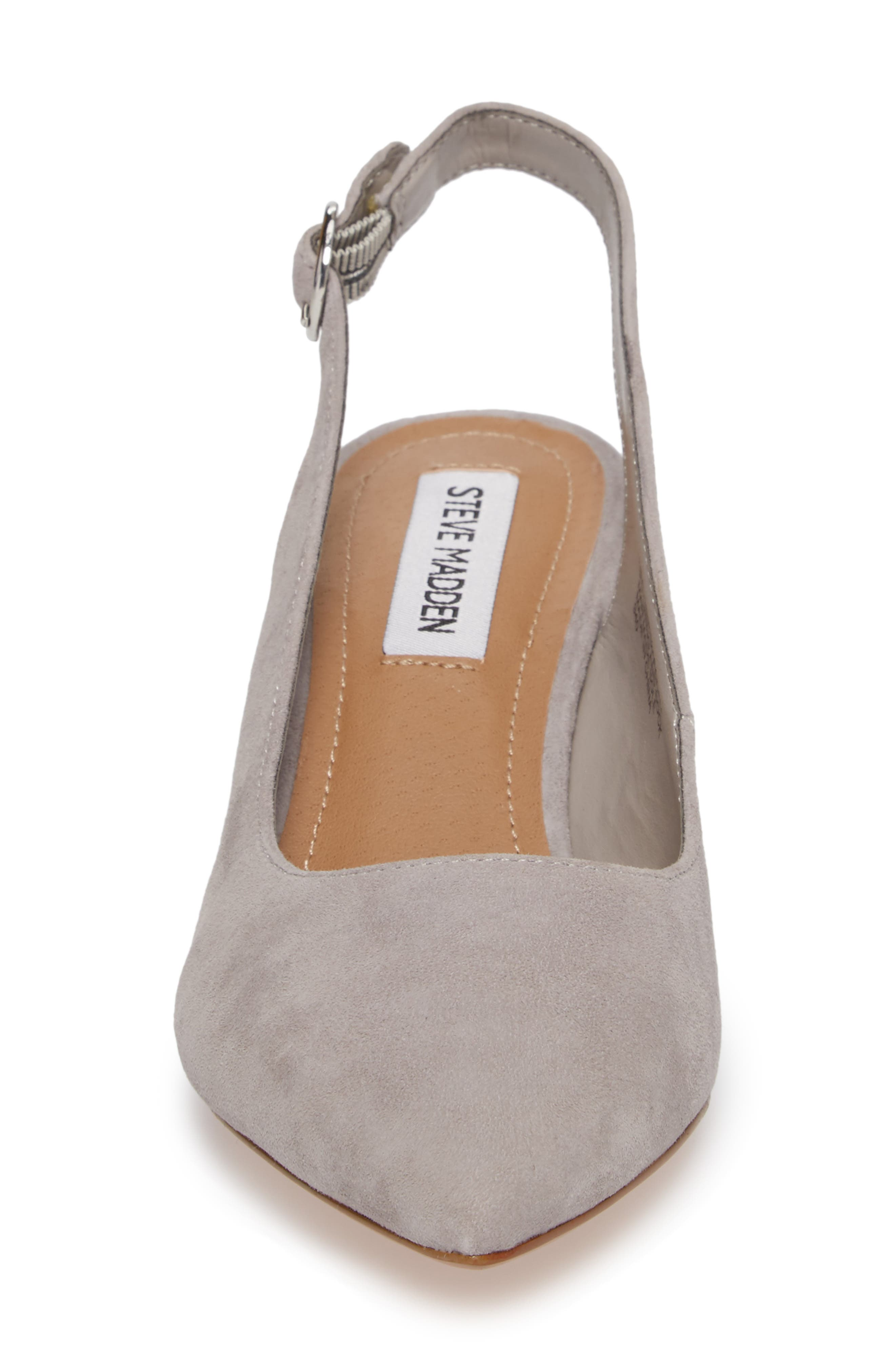 Dizzy Slingback Pump,                             Alternate thumbnail 4, color,                             Grey Suede