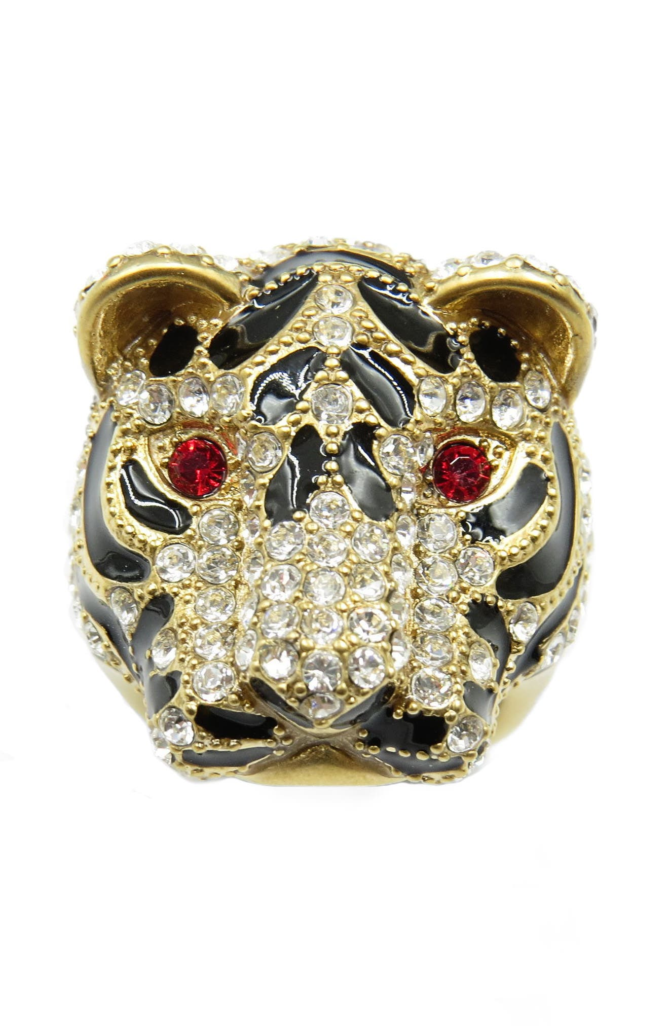 Tiger Head Ring,                             Alternate thumbnail 3, color,                             Gold