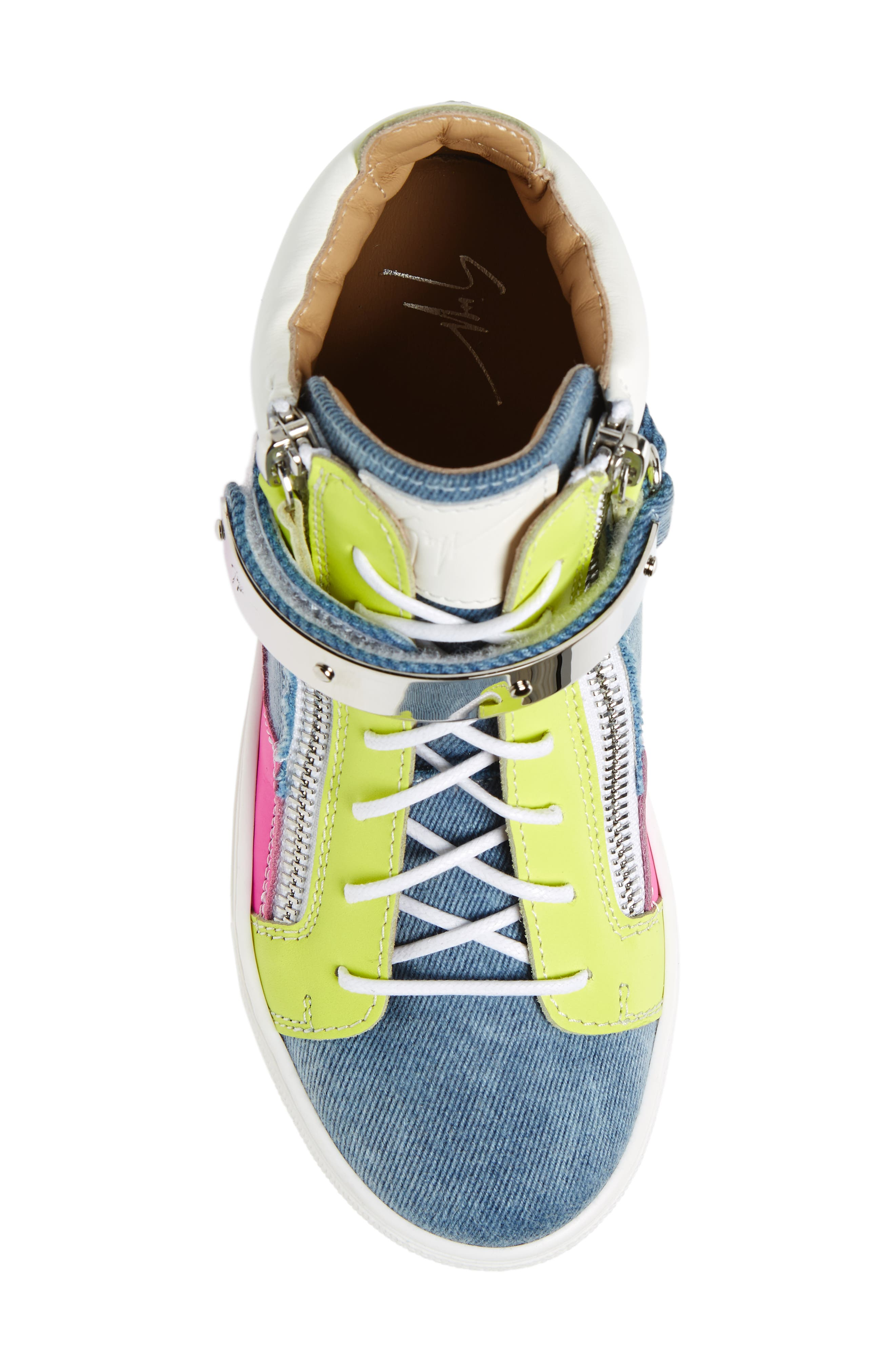 London High Top Sneaker,                             Alternate thumbnail 5, color,                             Multi