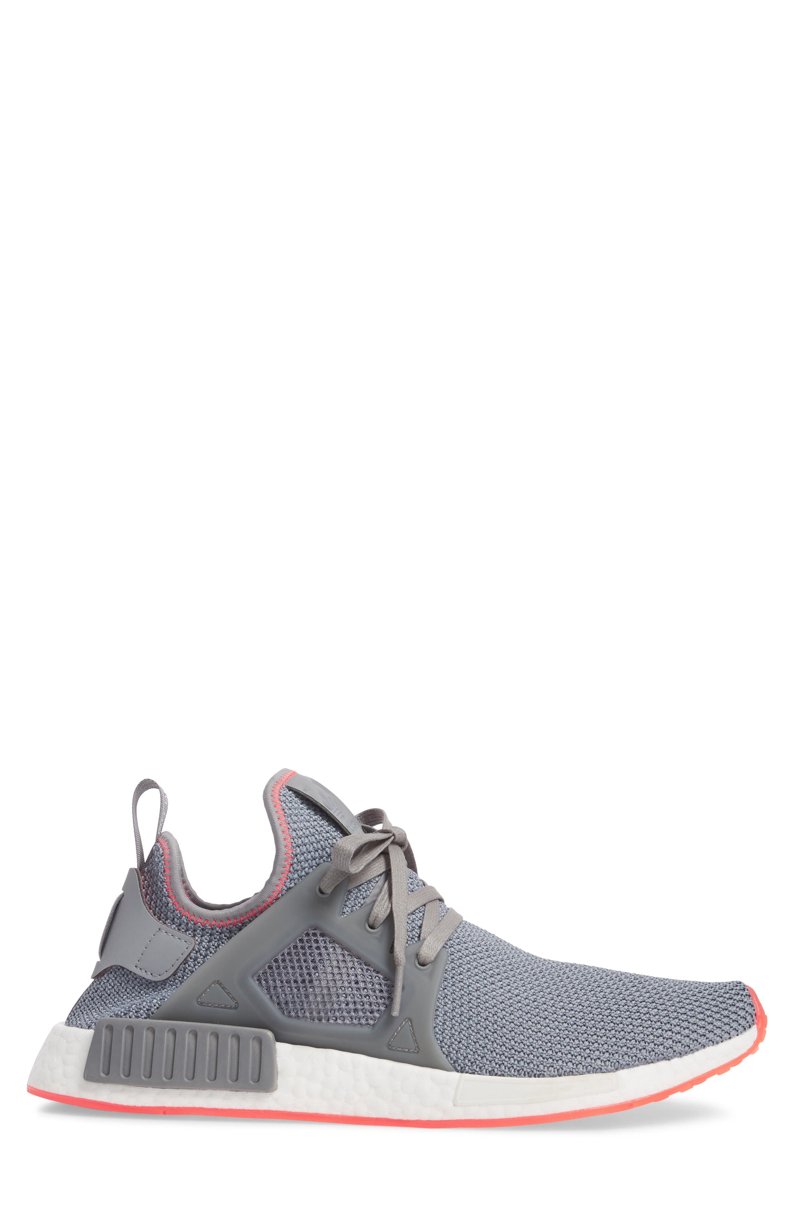 NMD_XR1 Sneaker,                             Alternate thumbnail 3, color,                             Grey Heather/ Red