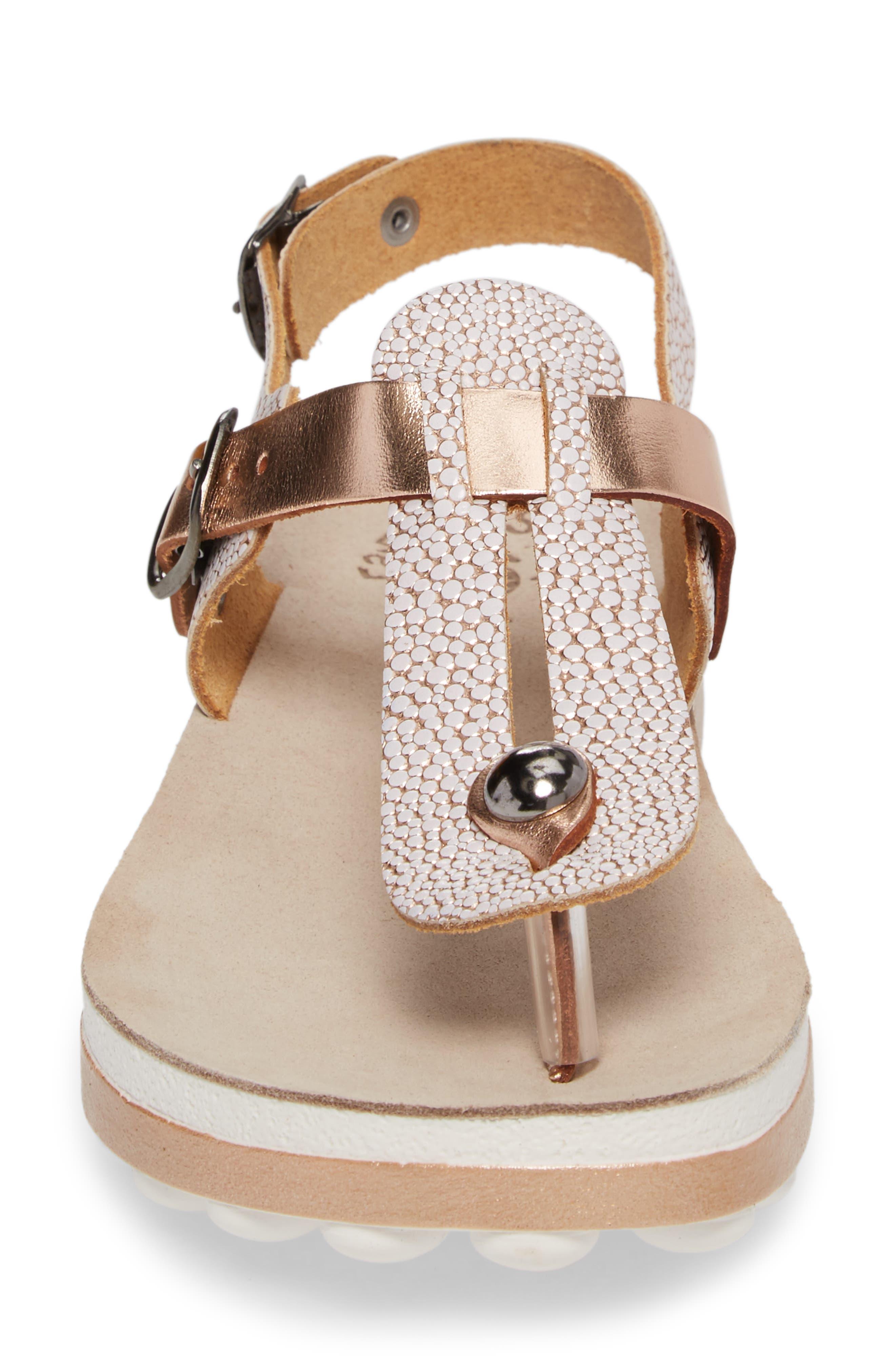 Marlena Fantasy Sandal,                             Alternate thumbnail 4, color,                             Rose Gold Leather