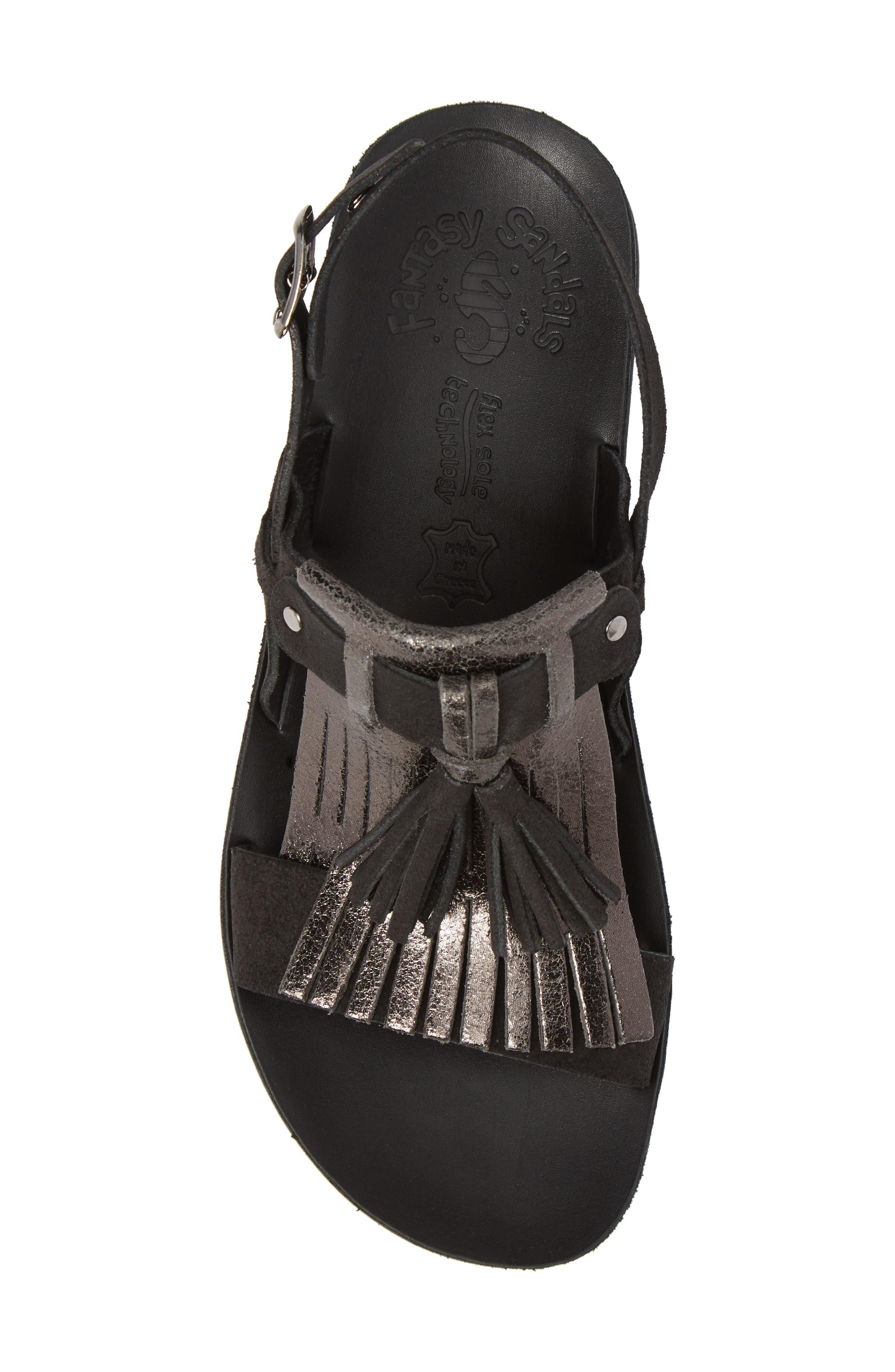 Anna Sandal,                             Alternate thumbnail 5, color,                             Black Glitter Leather