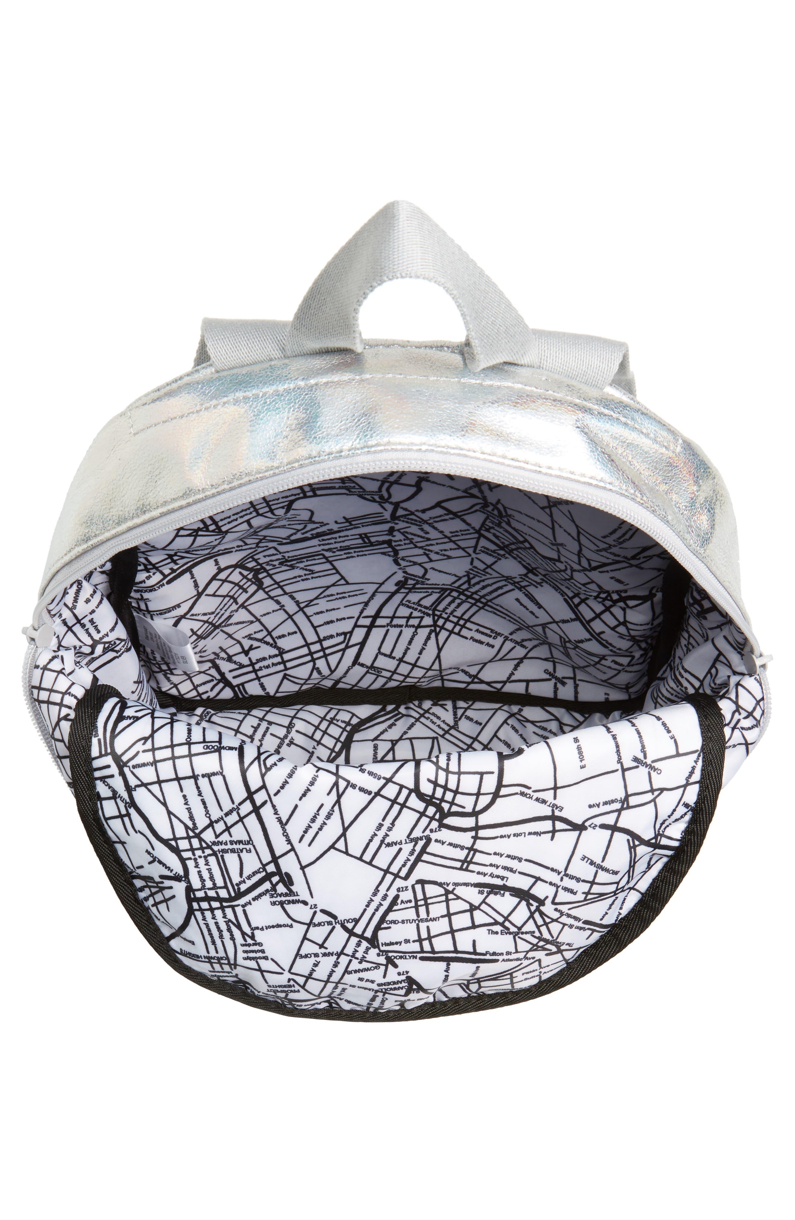 Starrett City - Mini Kane Iridescent Backpack,                             Alternate thumbnail 4, color,                             Silver