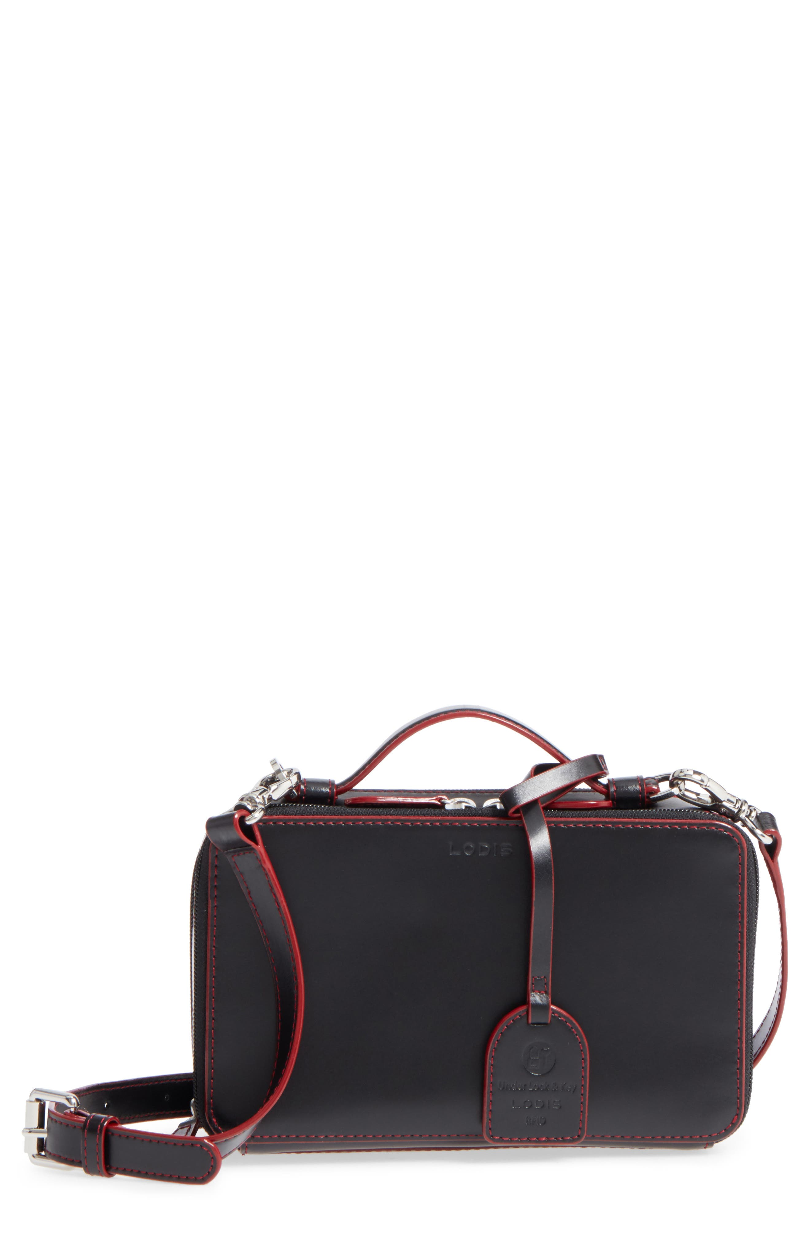 LODIS Los Angeles Downtown Sally RFID Zip-Around Leather Crossbody Bag