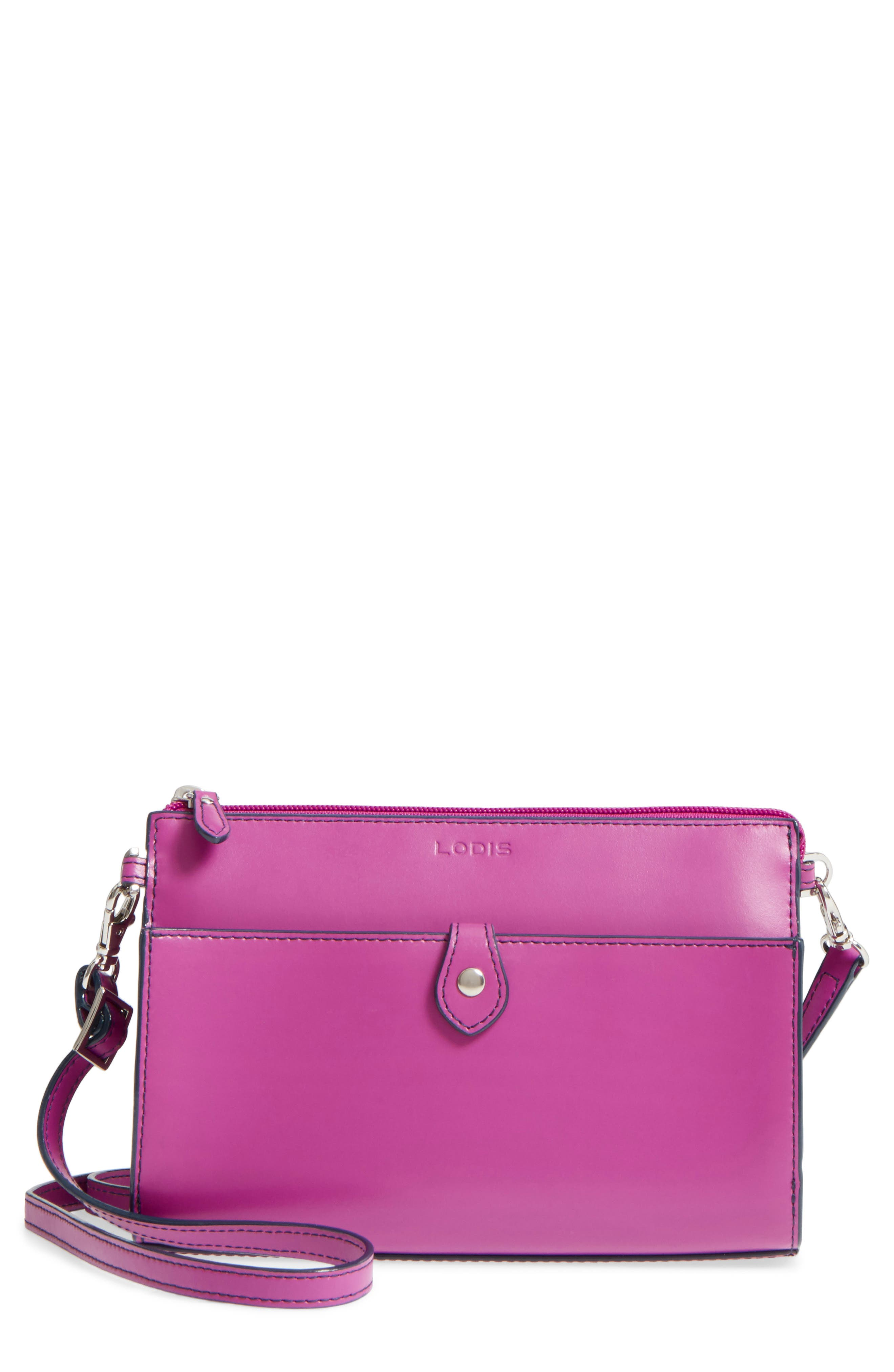 Alternate Image 1 Selected - LODIS Audrey Under Lock & Key Vicky Convertible Leather Crossbody Bag