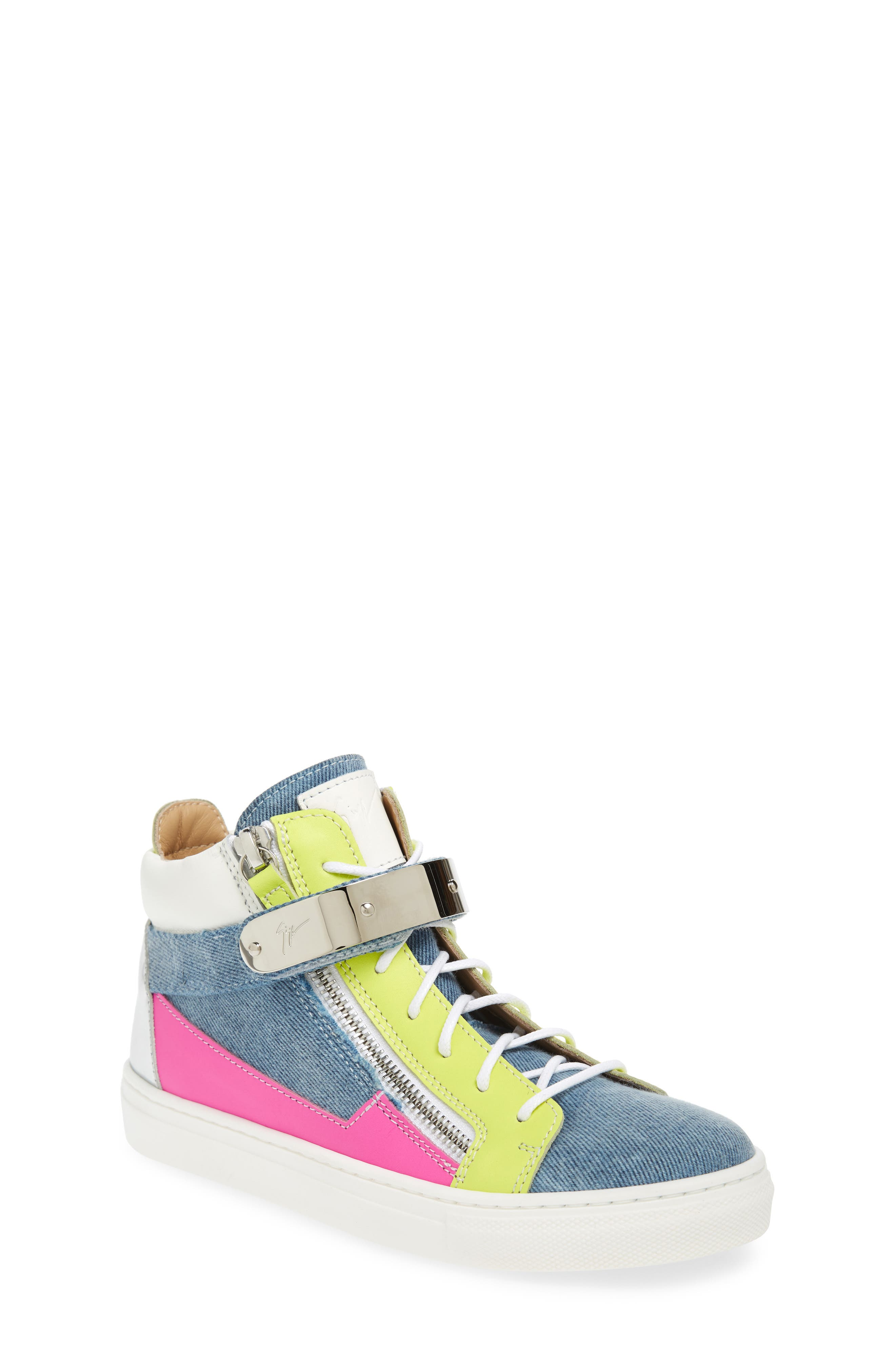 Giuseppe Zanotti London High Top Sneaker (Baby, Walker, Toddler & Little Kid)