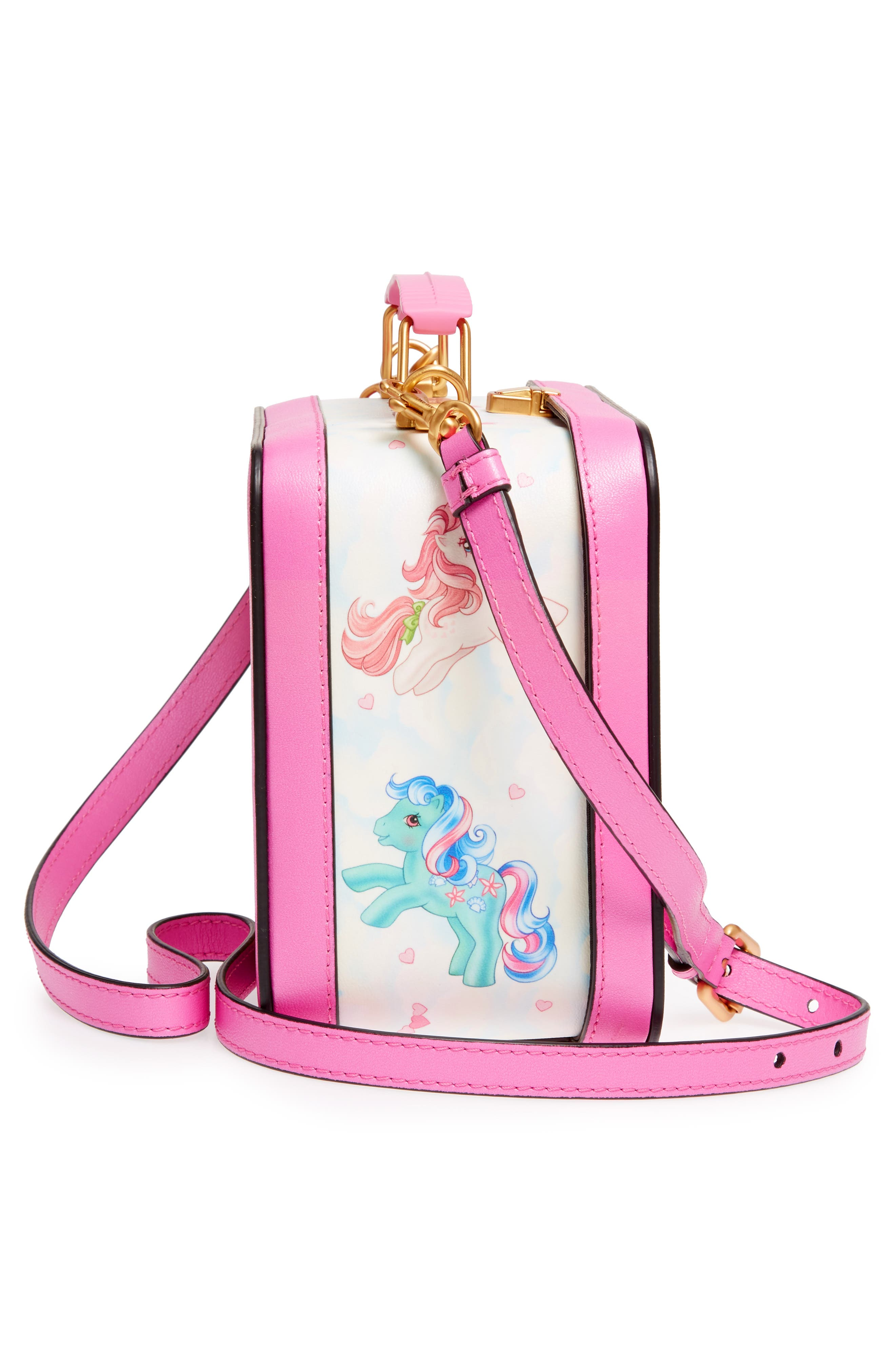x My Little Pony Leather Lunch Box,                             Alternate thumbnail 5, color,                             Pink