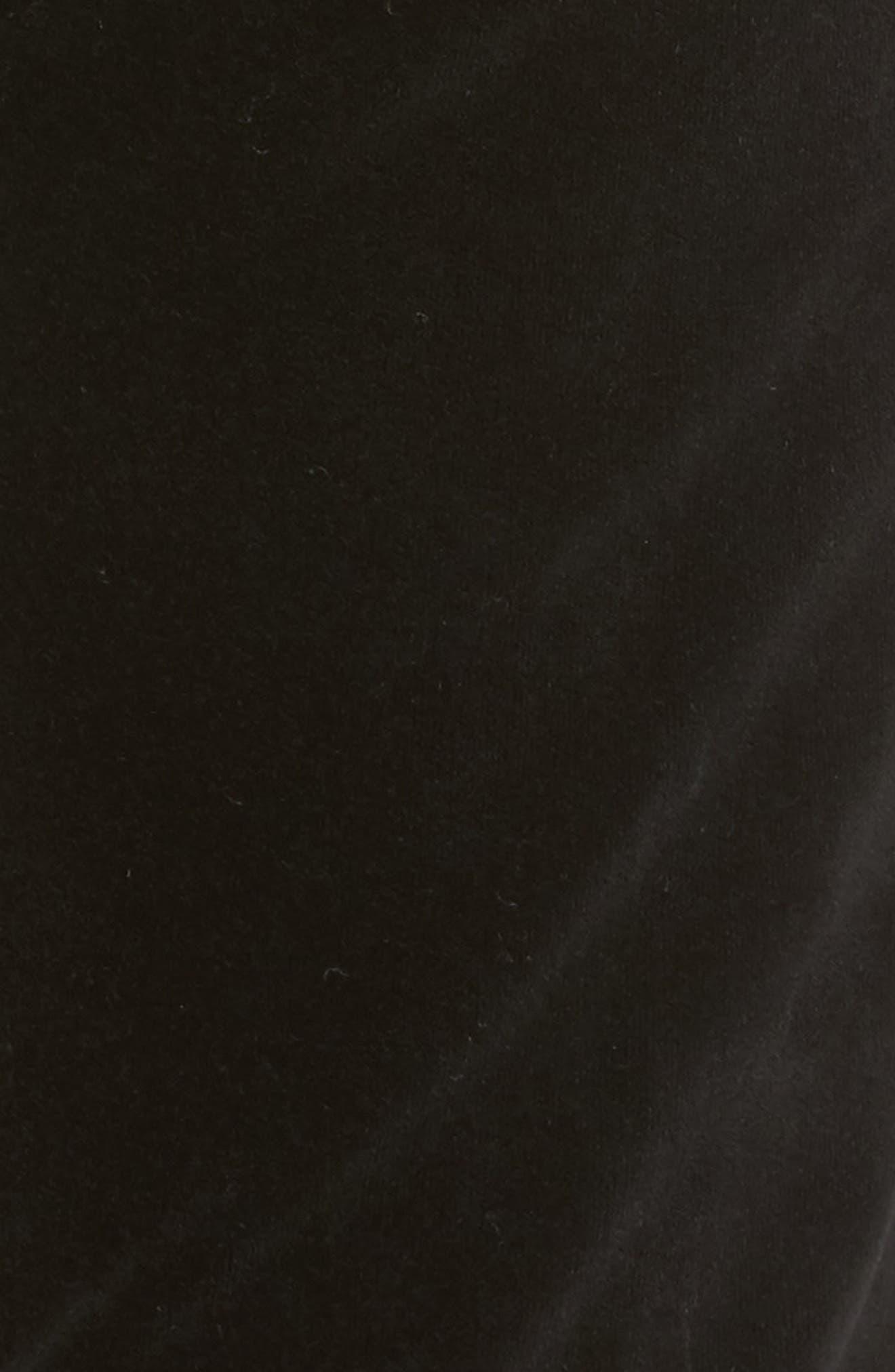 Cara High Waist Ankle Cigarette Velvet Pants,                             Alternate thumbnail 6, color,                             Black Currant Velvet