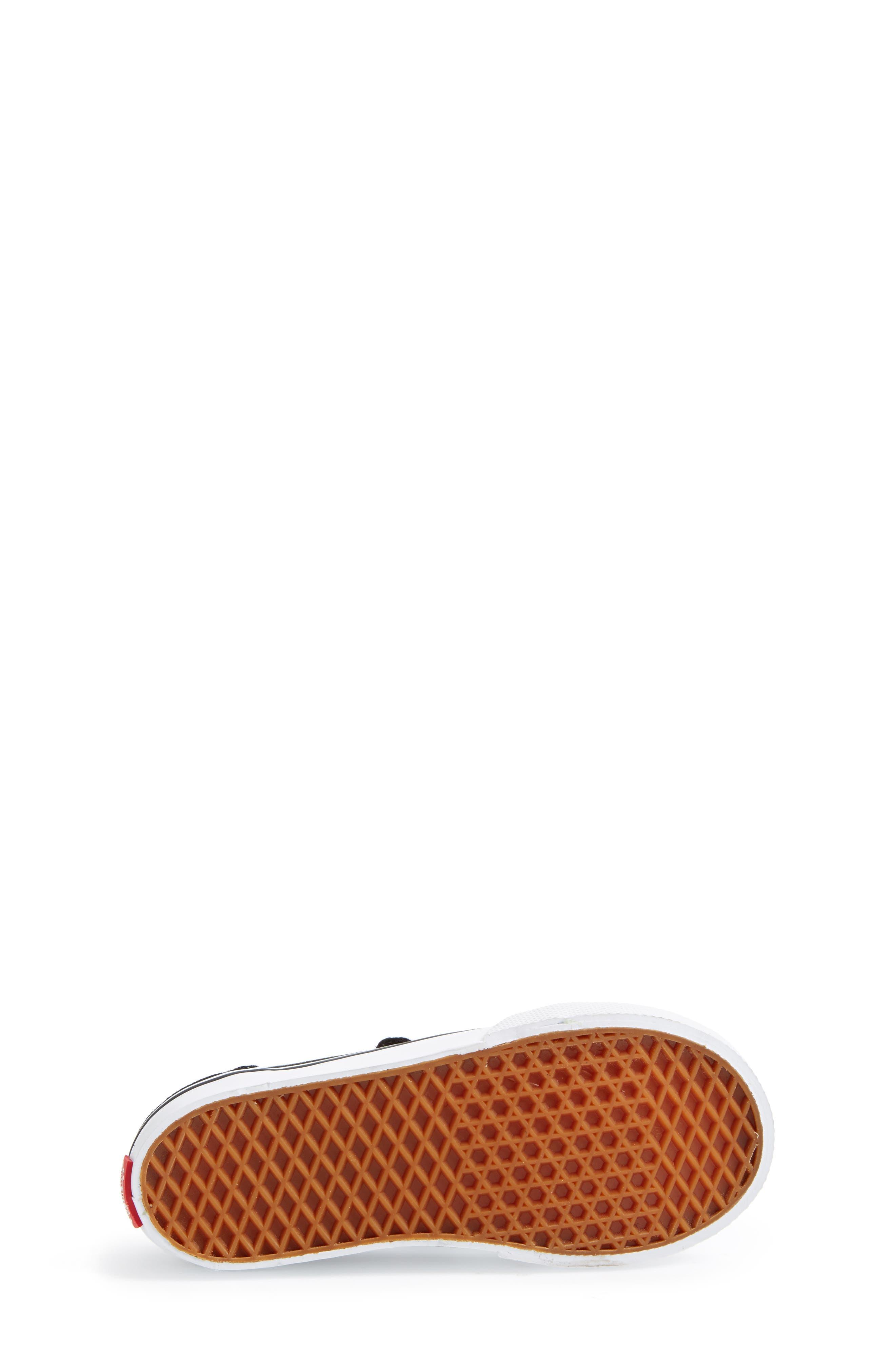 'Old Skool V' Sneaker,                             Alternate thumbnail 4, color,                             Black/ True White