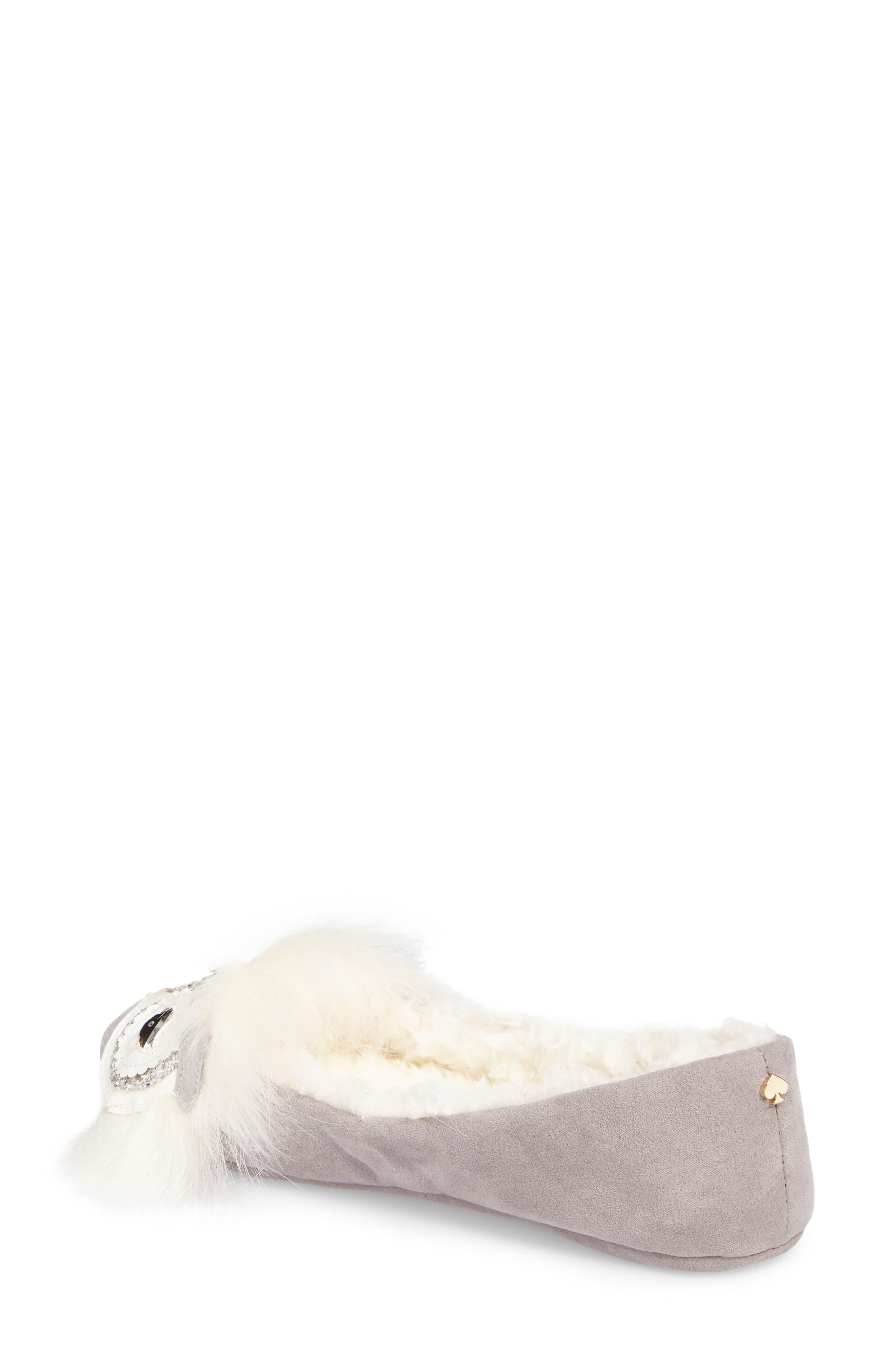 samantha owl slipper,                             Alternate thumbnail 2, color,                             Grey