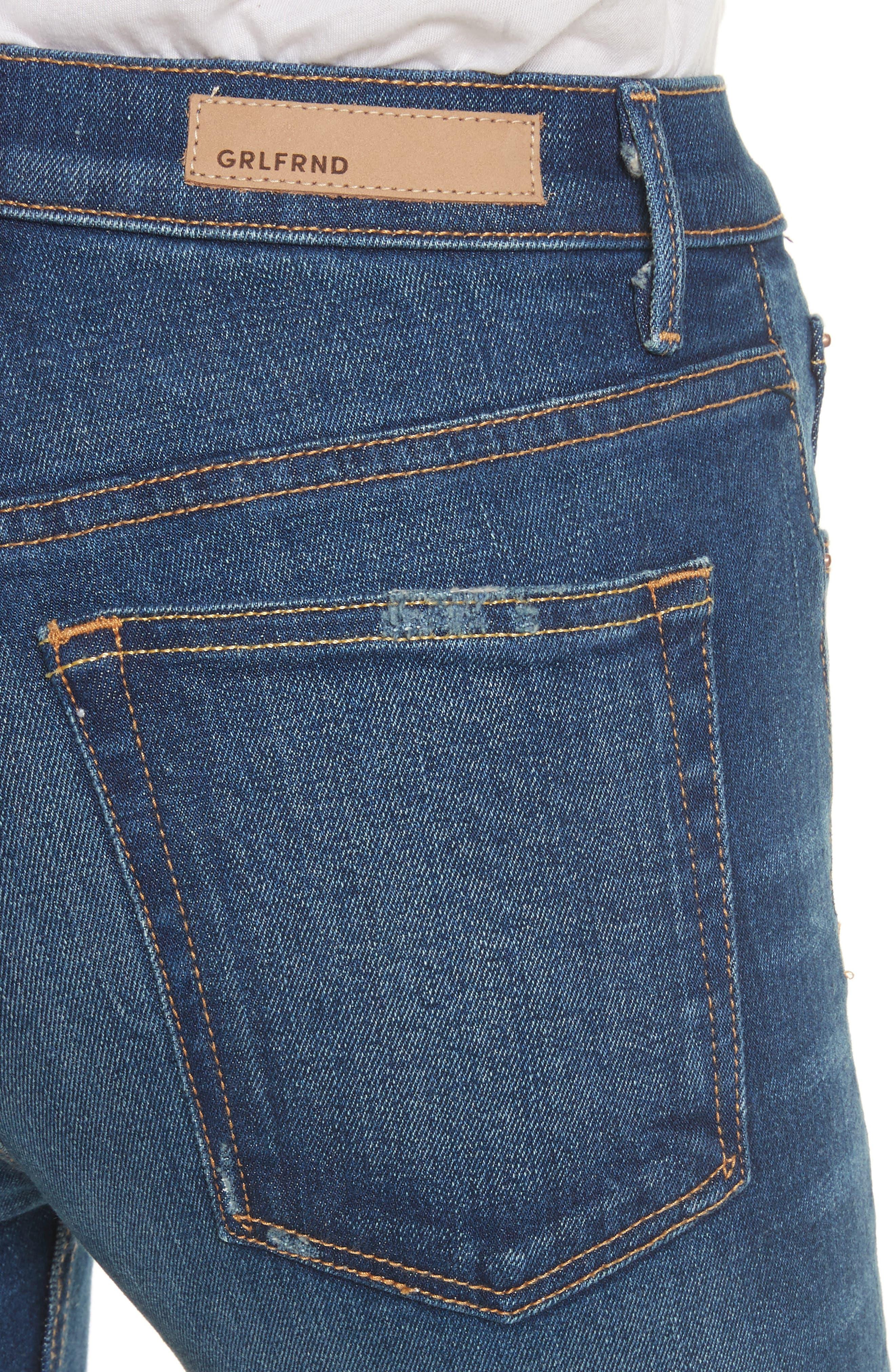 Karolina High Waist Skinny Jeans,                             Alternate thumbnail 4, color,                             Joan Jett