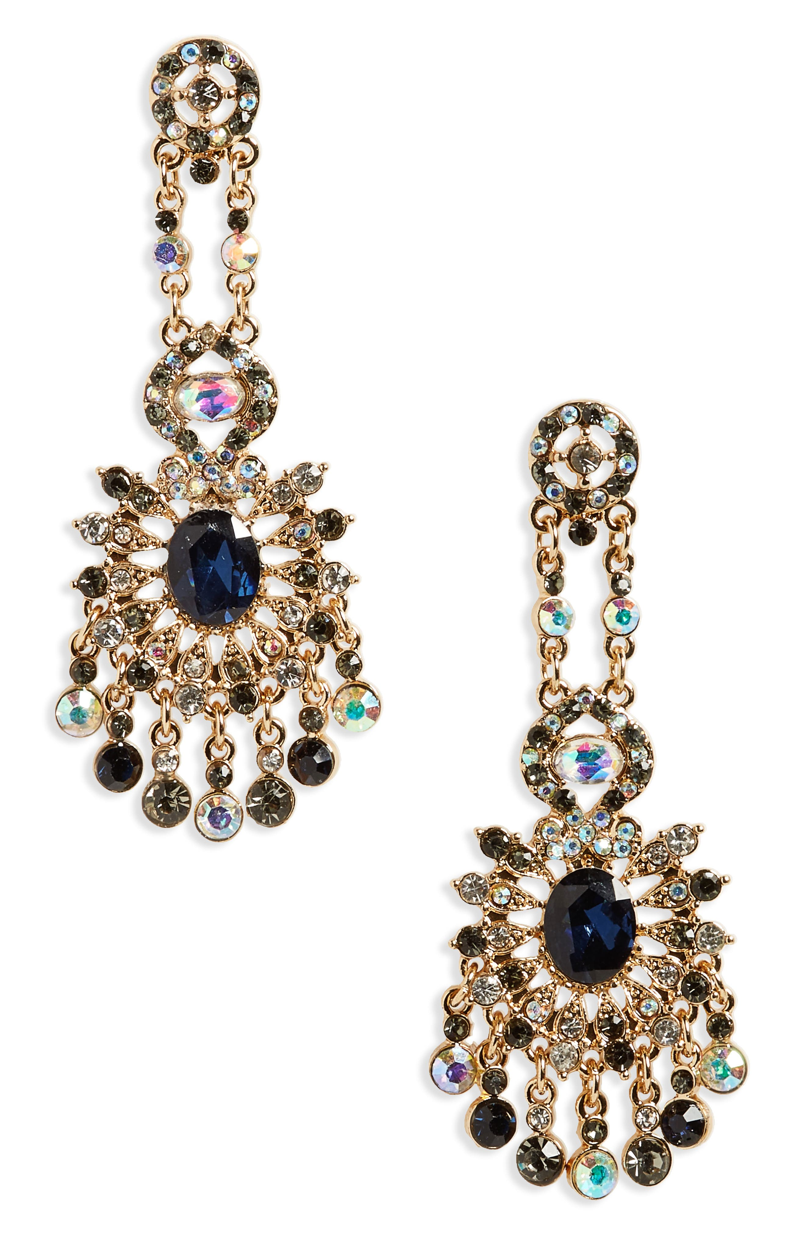 Statement Earrings,                         Main,                         color, Gold