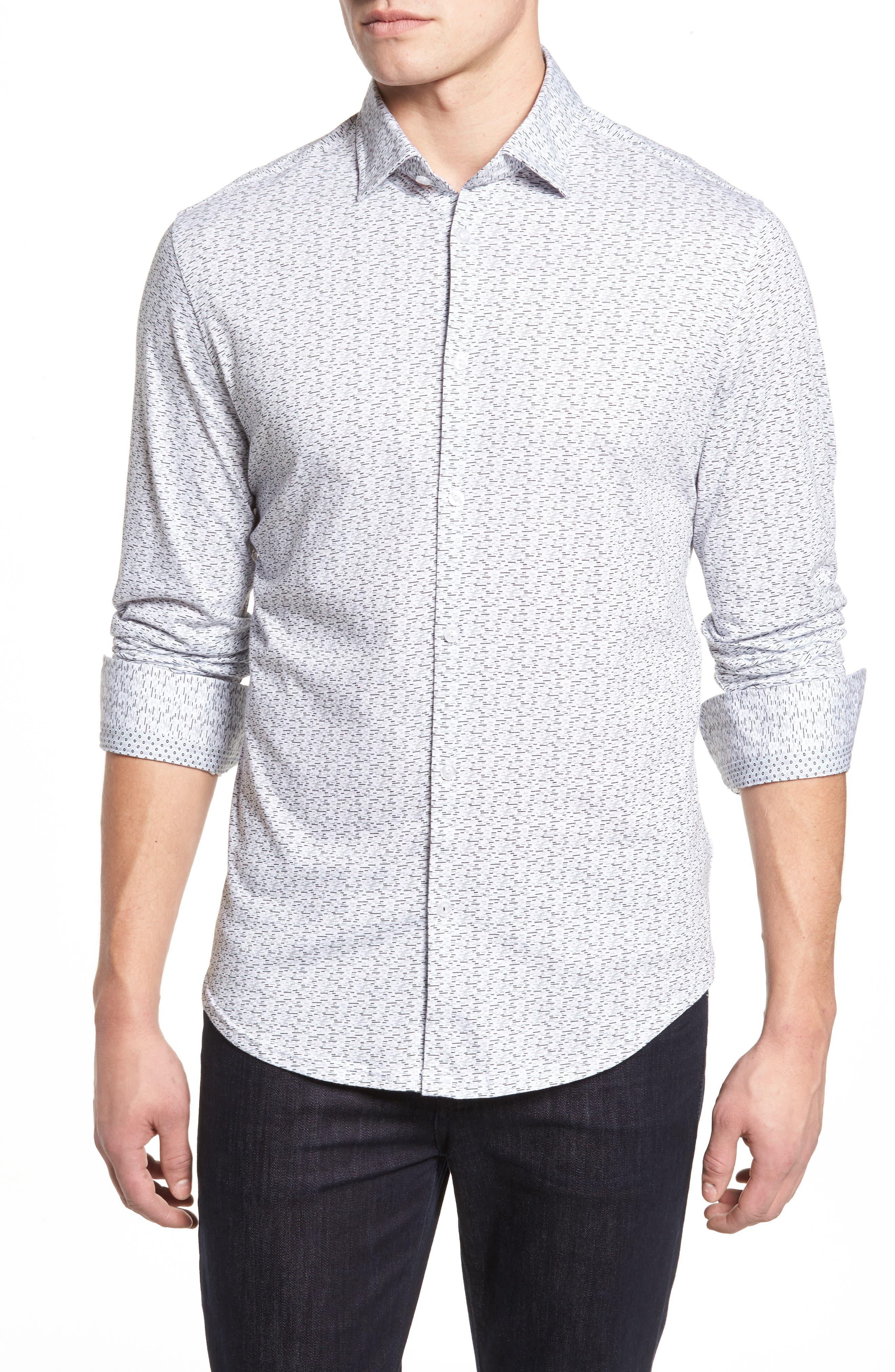 Alternate Image 1 Selected - Stone Rose Slim Fit Print Knit Sport Shirt