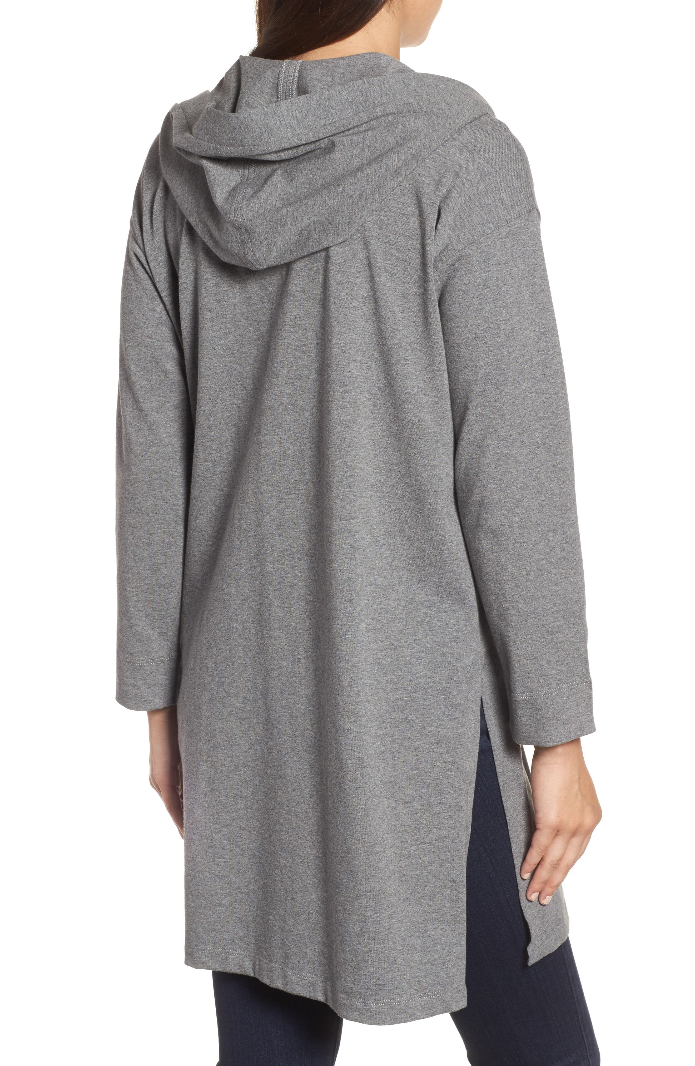 Hooded Tunic,                             Alternate thumbnail 2, color,                             Grey