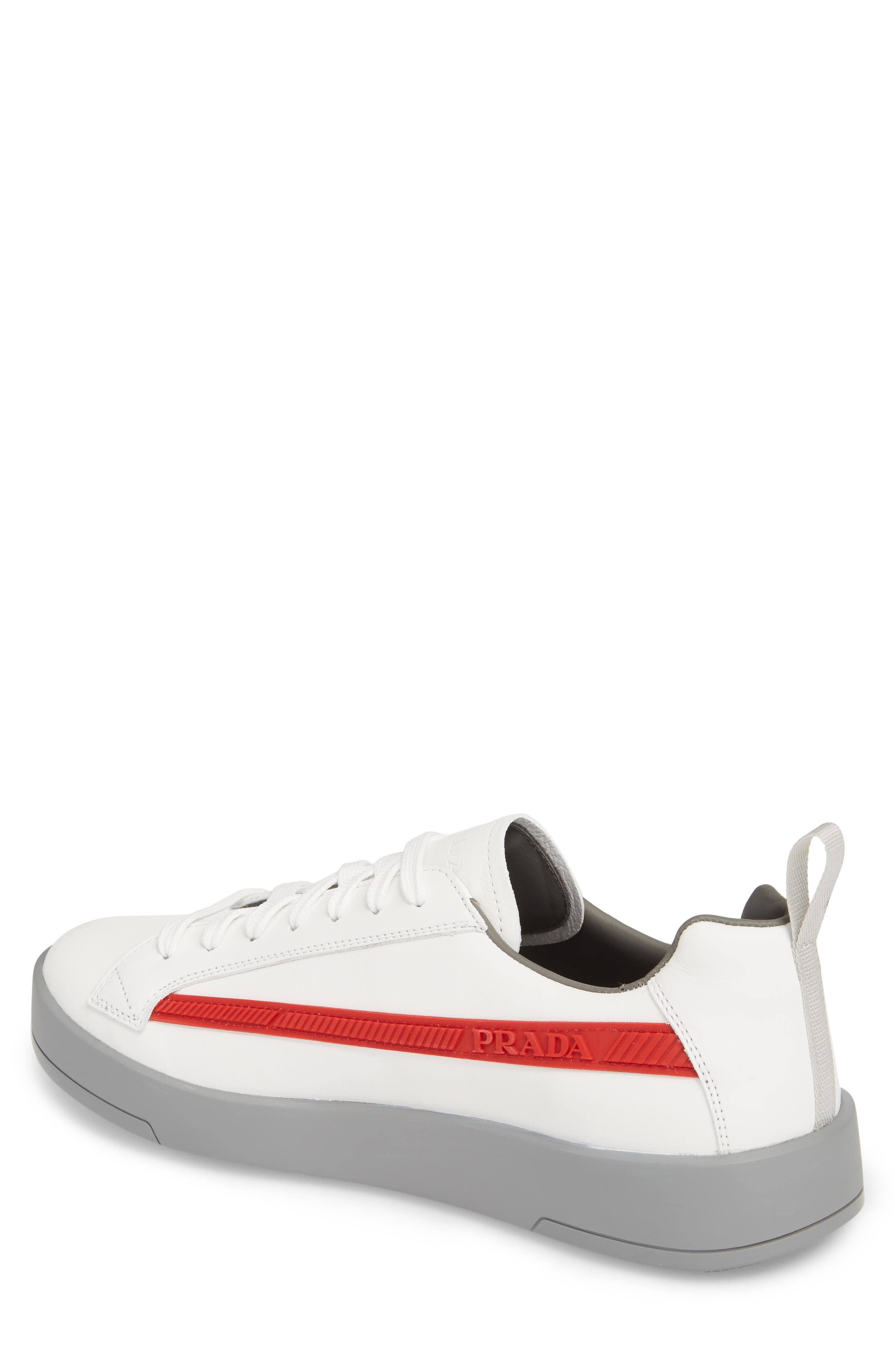 Linea Rossa Sneaker,                             Alternate thumbnail 2, color,                             Bianco