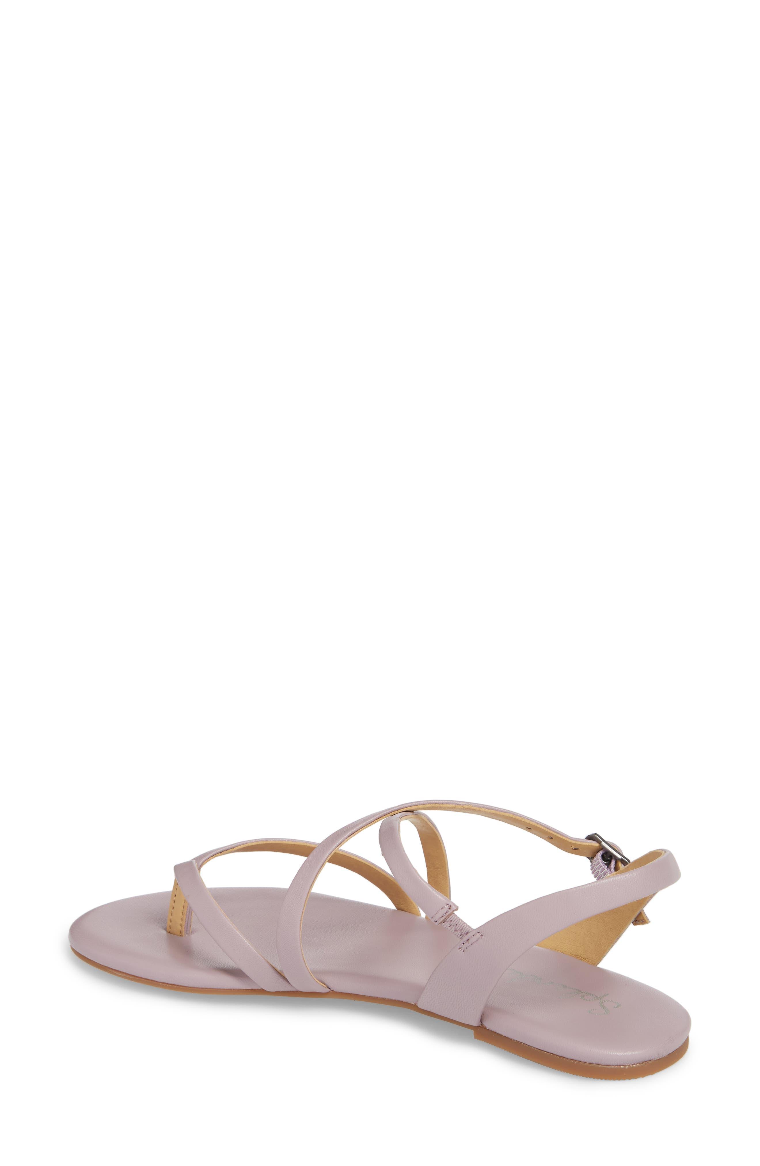 Brett Strappy Flat Sandal,                             Alternate thumbnail 2, color,                             Wisteria Leather