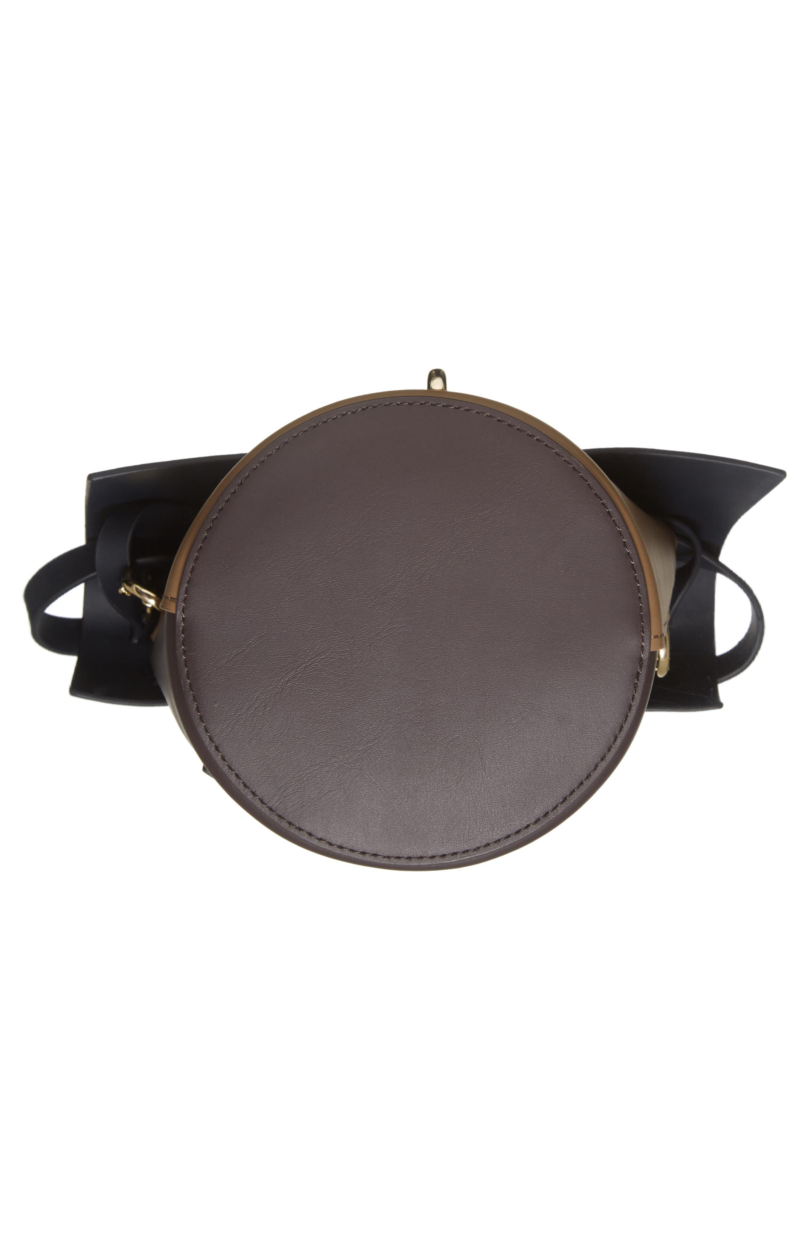 Belay Colorblock Calfskin Leather Crossbody Bucket Bag,                             Alternate thumbnail 6, color,                             Navy