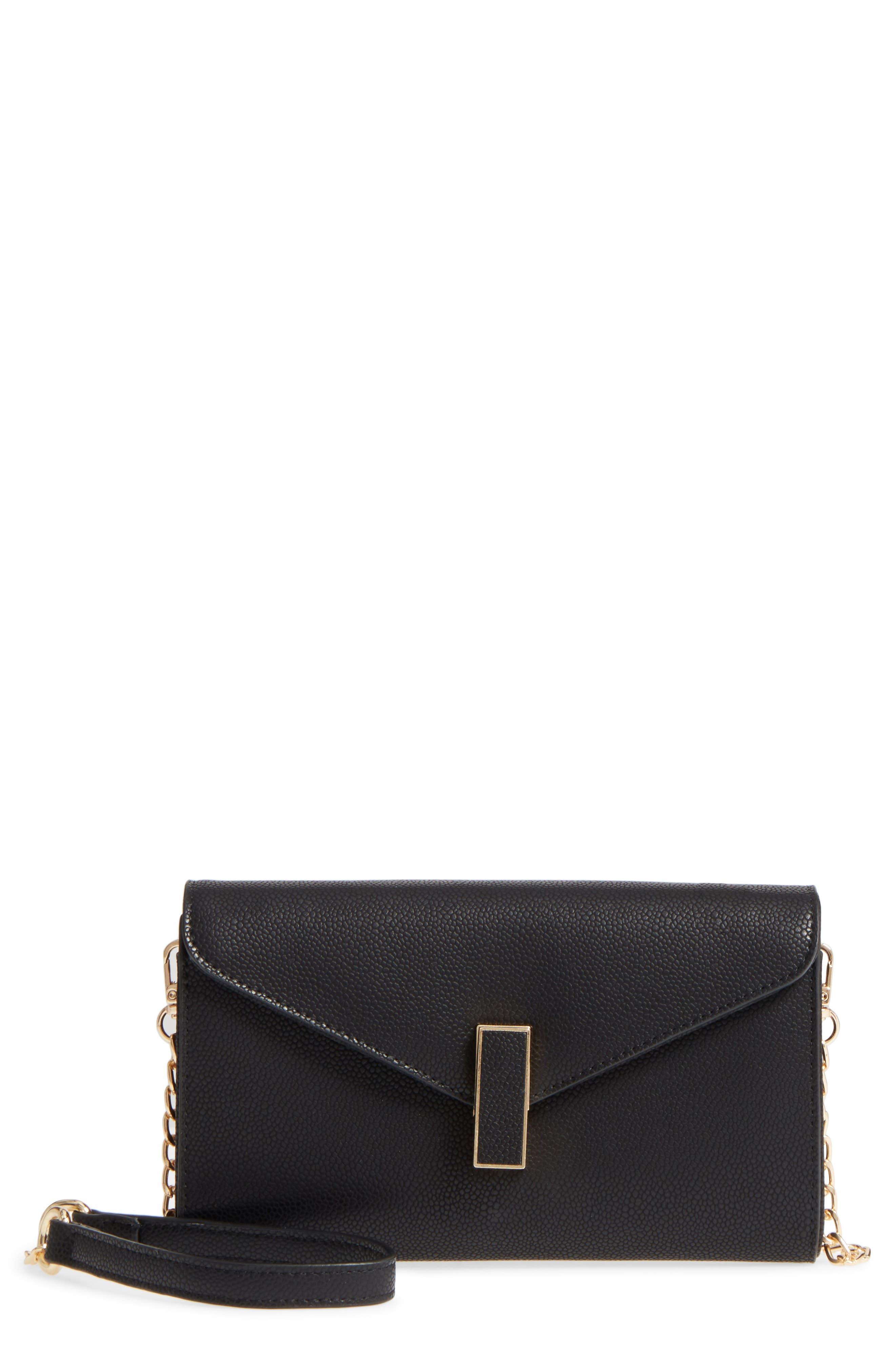 Main Image - Sondra Roberts Faux Leather Envelope Crossbody Bag