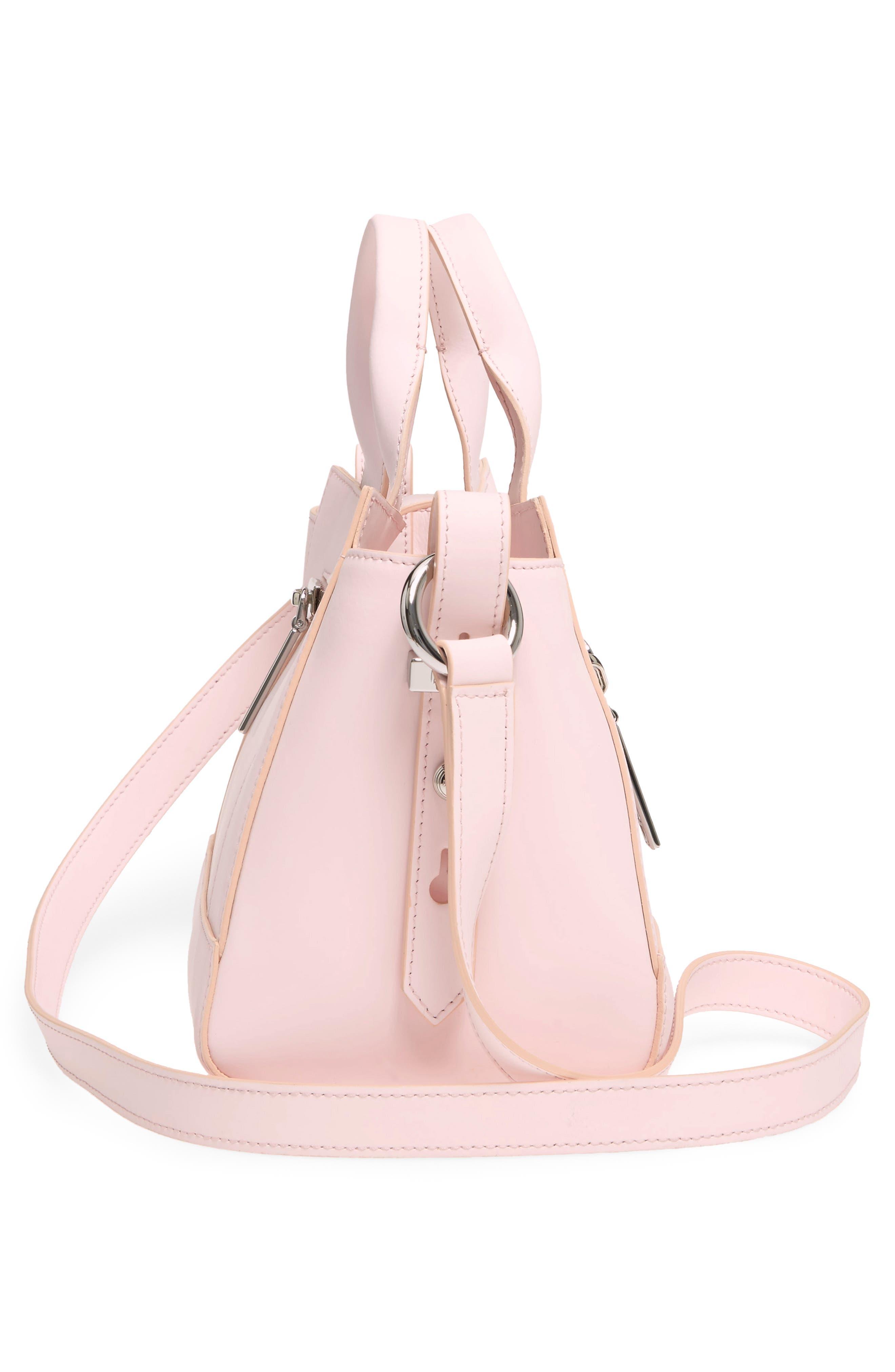 'Mini Kalifornia' Leather Satchel,                             Alternate thumbnail 5, color,                             Faded Pink