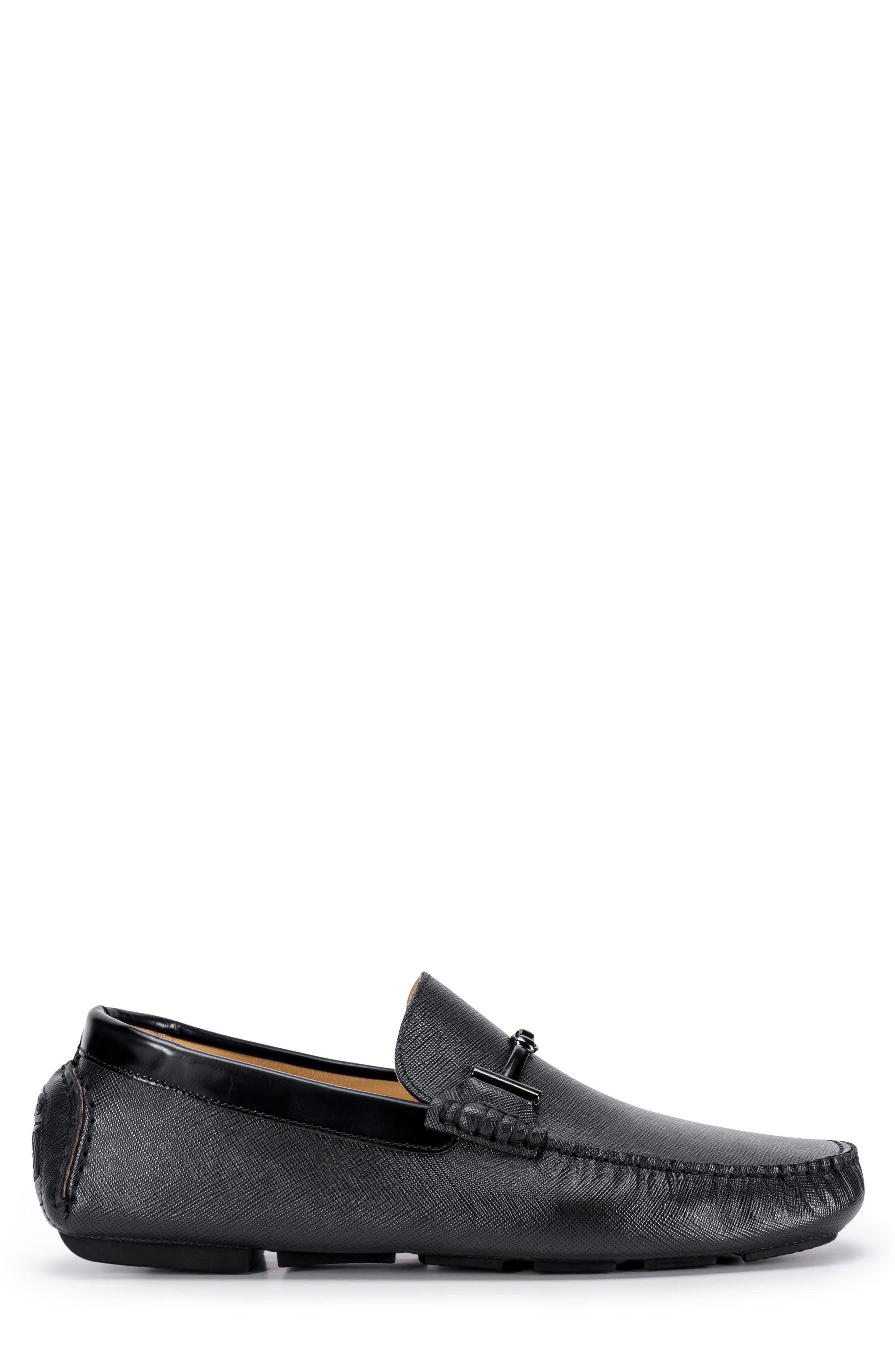 Capri Driving Shoe,                             Alternate thumbnail 3, color,                             Black