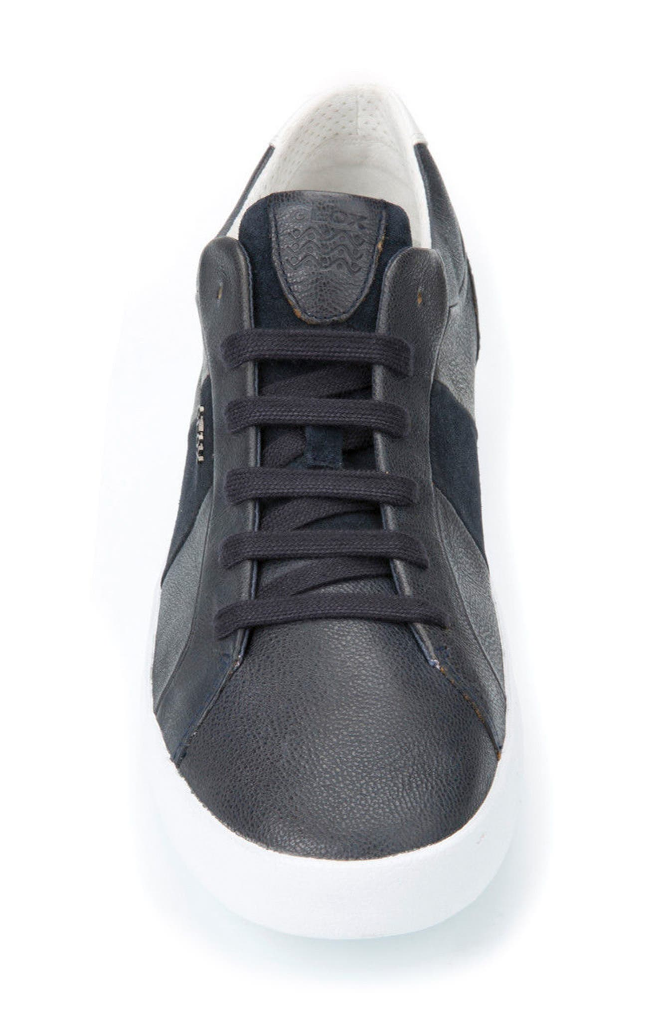 Smart 77 Sneaker,                             Alternate thumbnail 4, color,                             Navy Leather