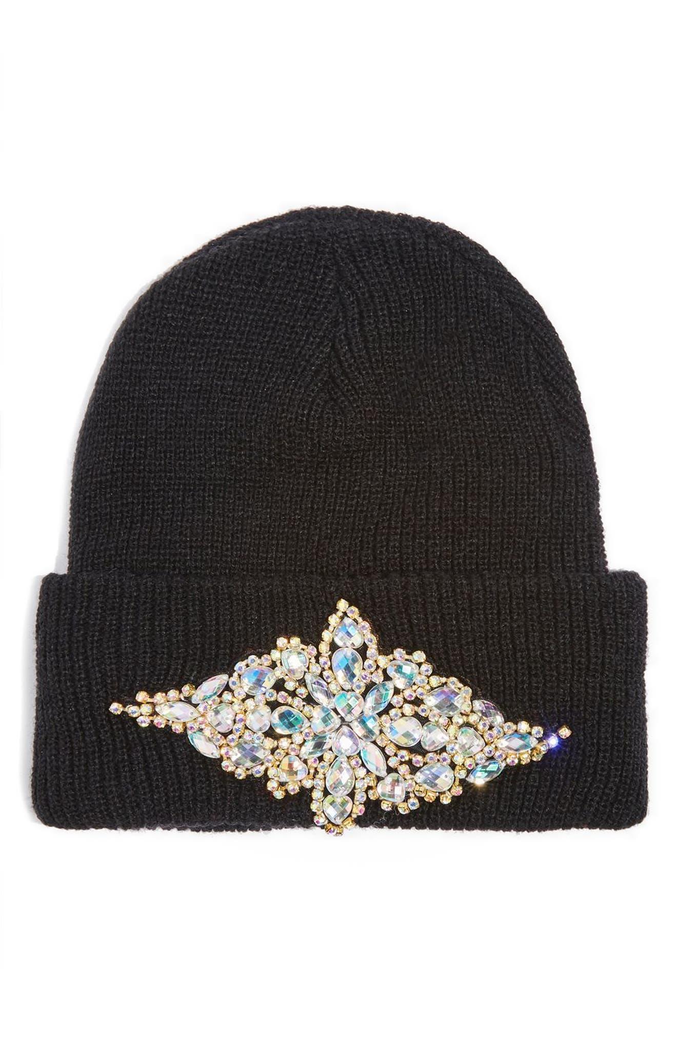 Topshop Bling Beanie Hat