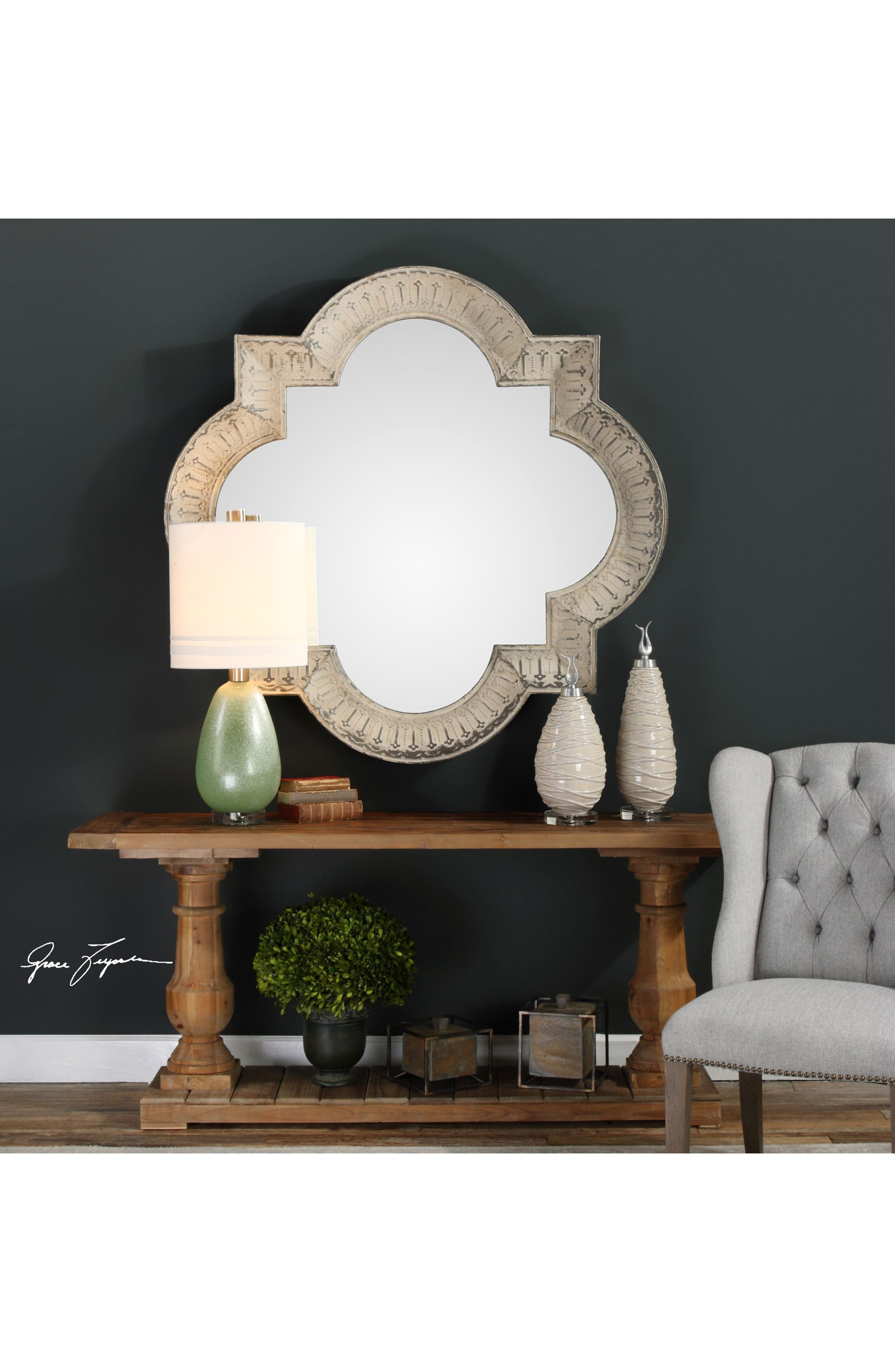 Giada Wall Mirror,                             Alternate thumbnail 2, color,                             Ivory
